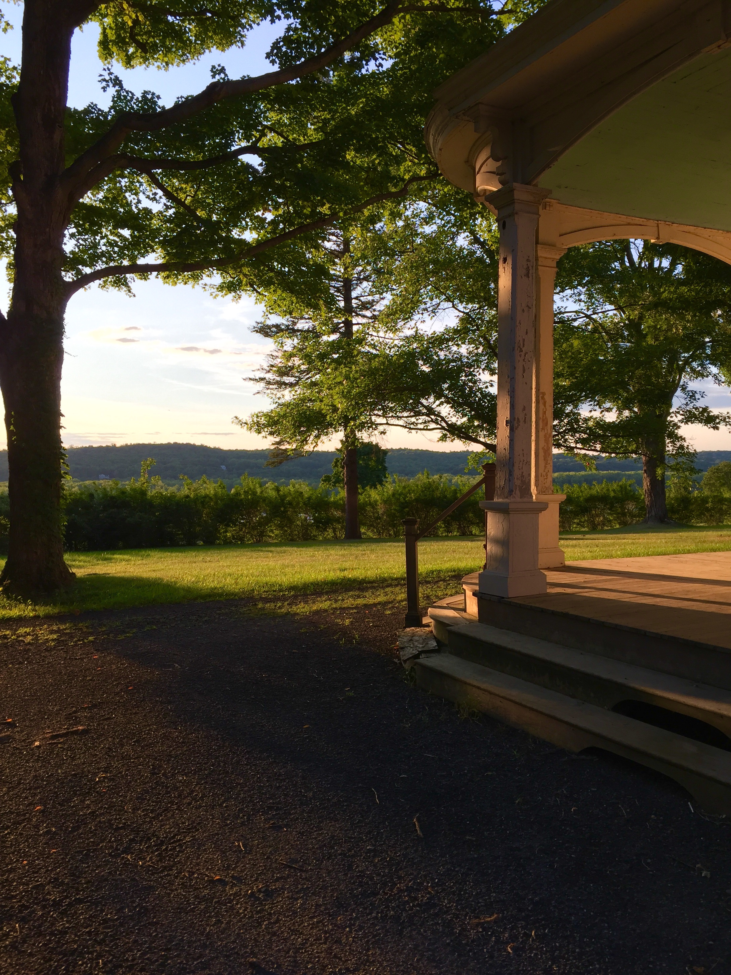 The beautiful porch overlooking the Hudson River