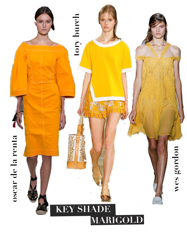 ROSE & IVY Journal NYFW Spring 2016 Trends Marigold