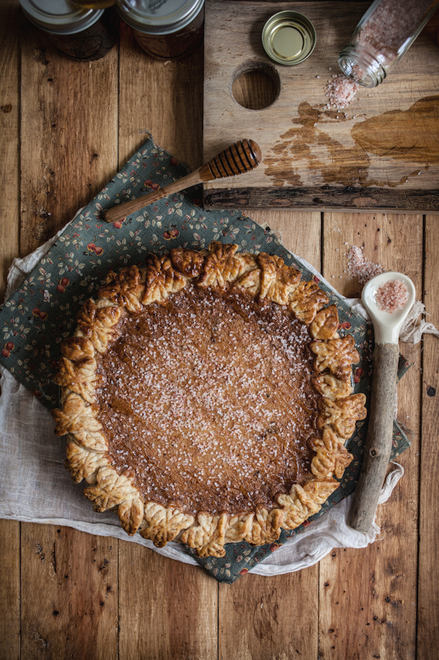 Salted Rose & Honey Pie,  Adventure's in Cooking