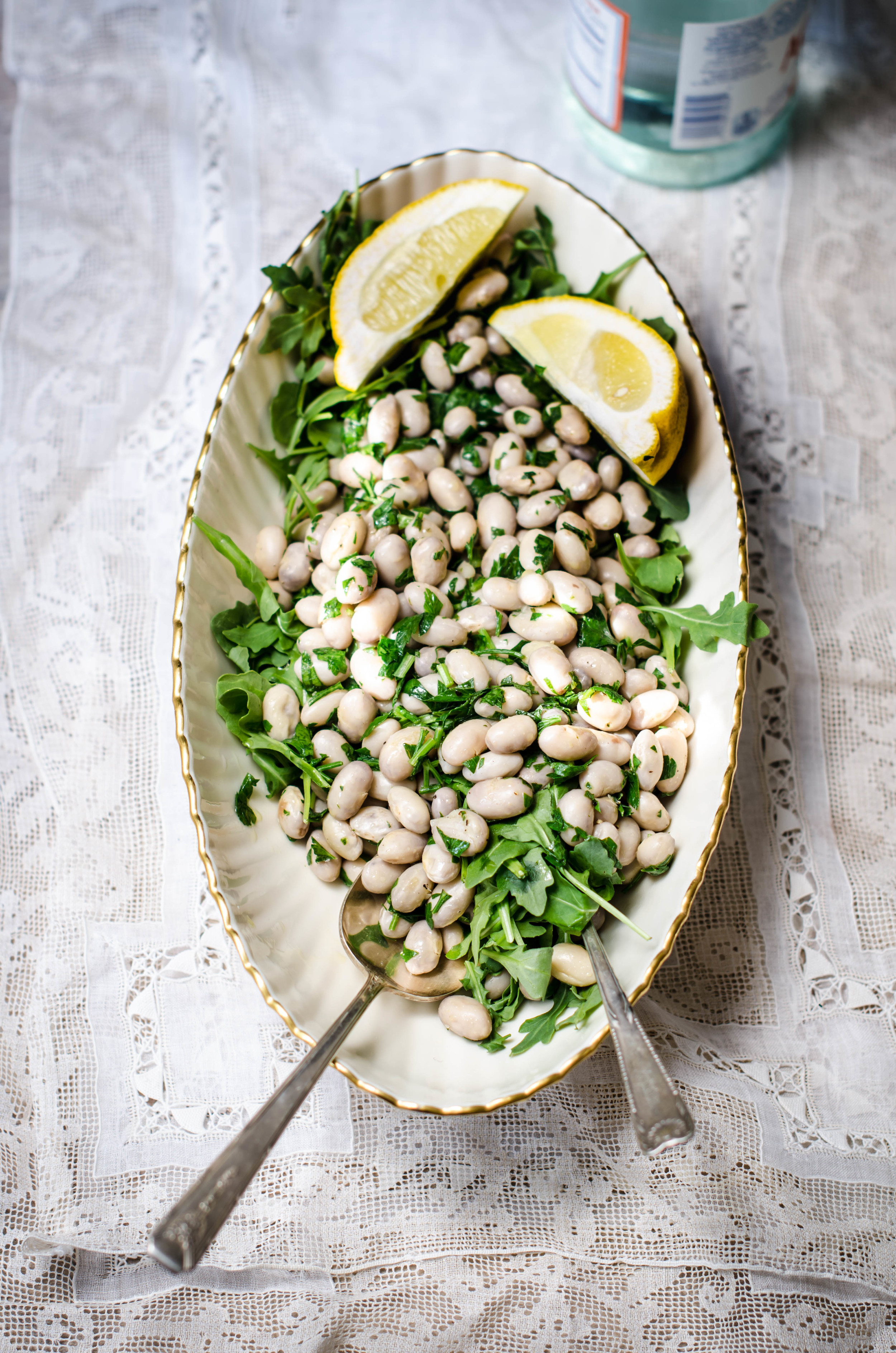 ROSE & IVY Journal Herbed White Bean Salad with Arugula