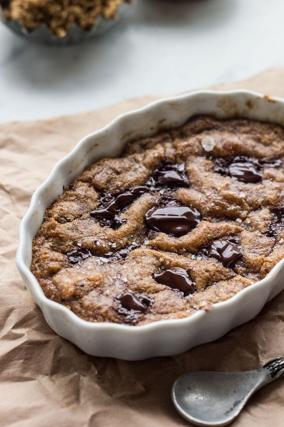 Single Serving Whole Wheat Chocolate Chip Cookie , via Top With Cinnamon