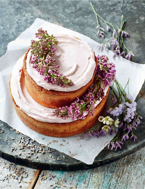 Lavender Lemon Cake via  Cooked Australia