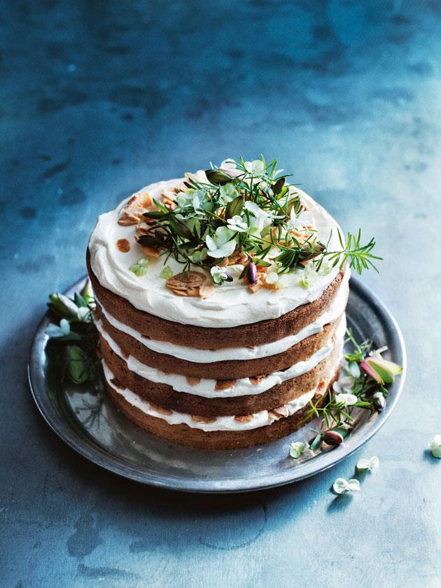 Lemon and Orange Blossom Cake with Vanilla Ricotta Frosting via  Donna Hay