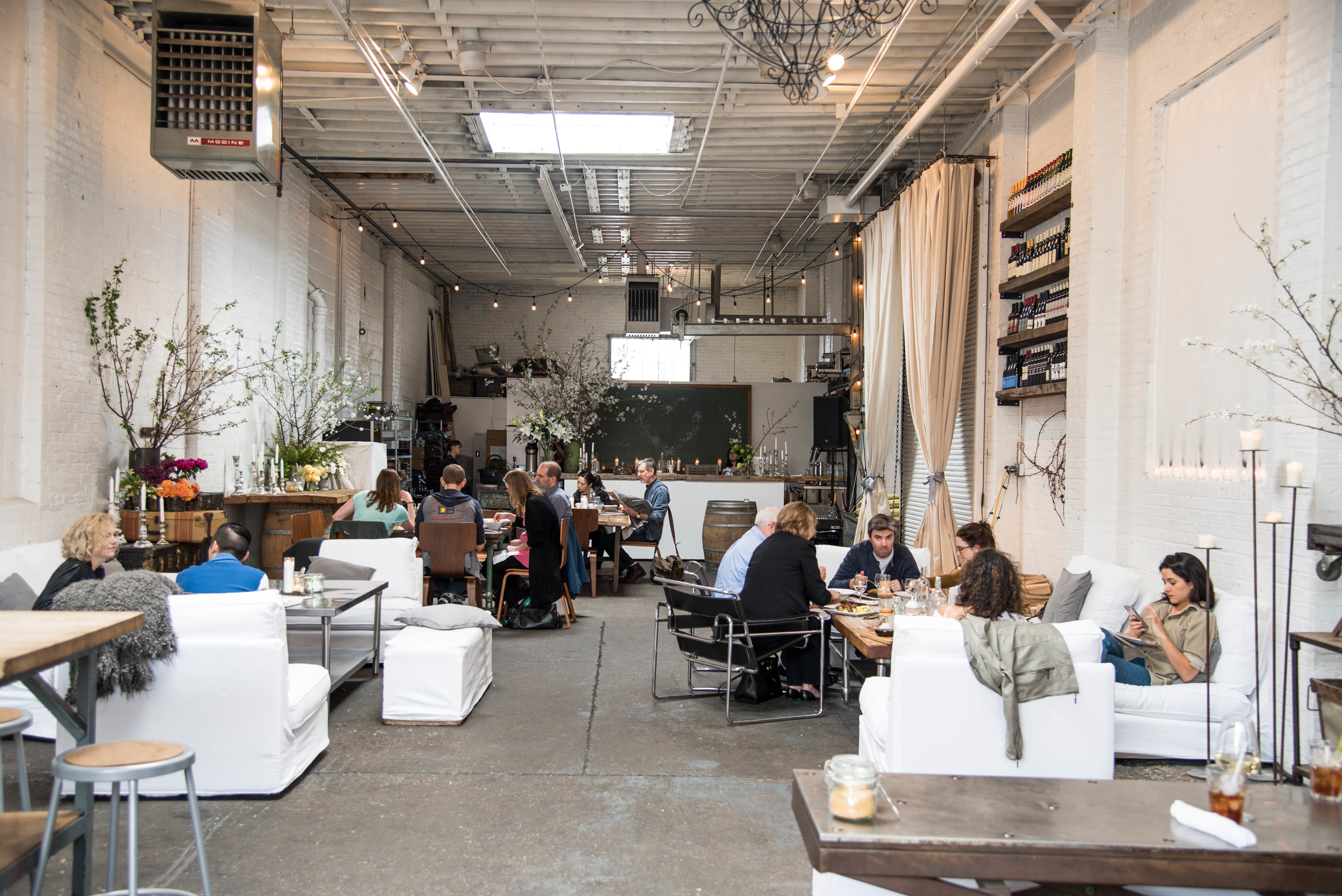 Home/Made's brunch outpost, an airy space housed in a former garage
