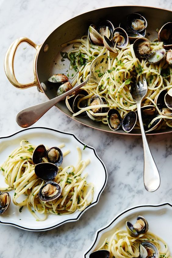 Pasta with Clams via   Nicole Franzen