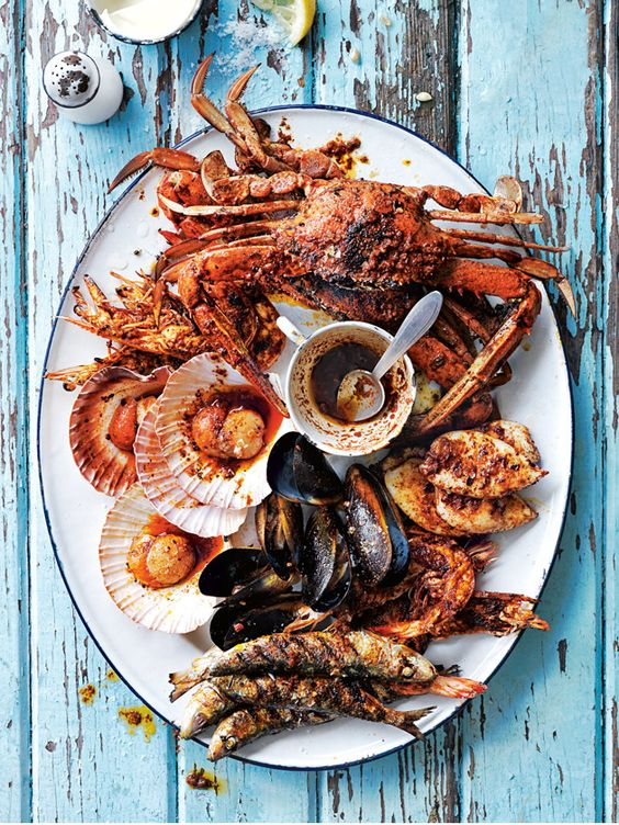 Portugese Barbecue Platter via  Donna Hay