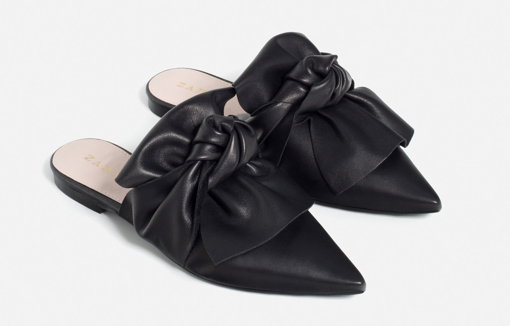 ROSE & VY Journal Current Obsession Zara's Leather Bow Tie Slides