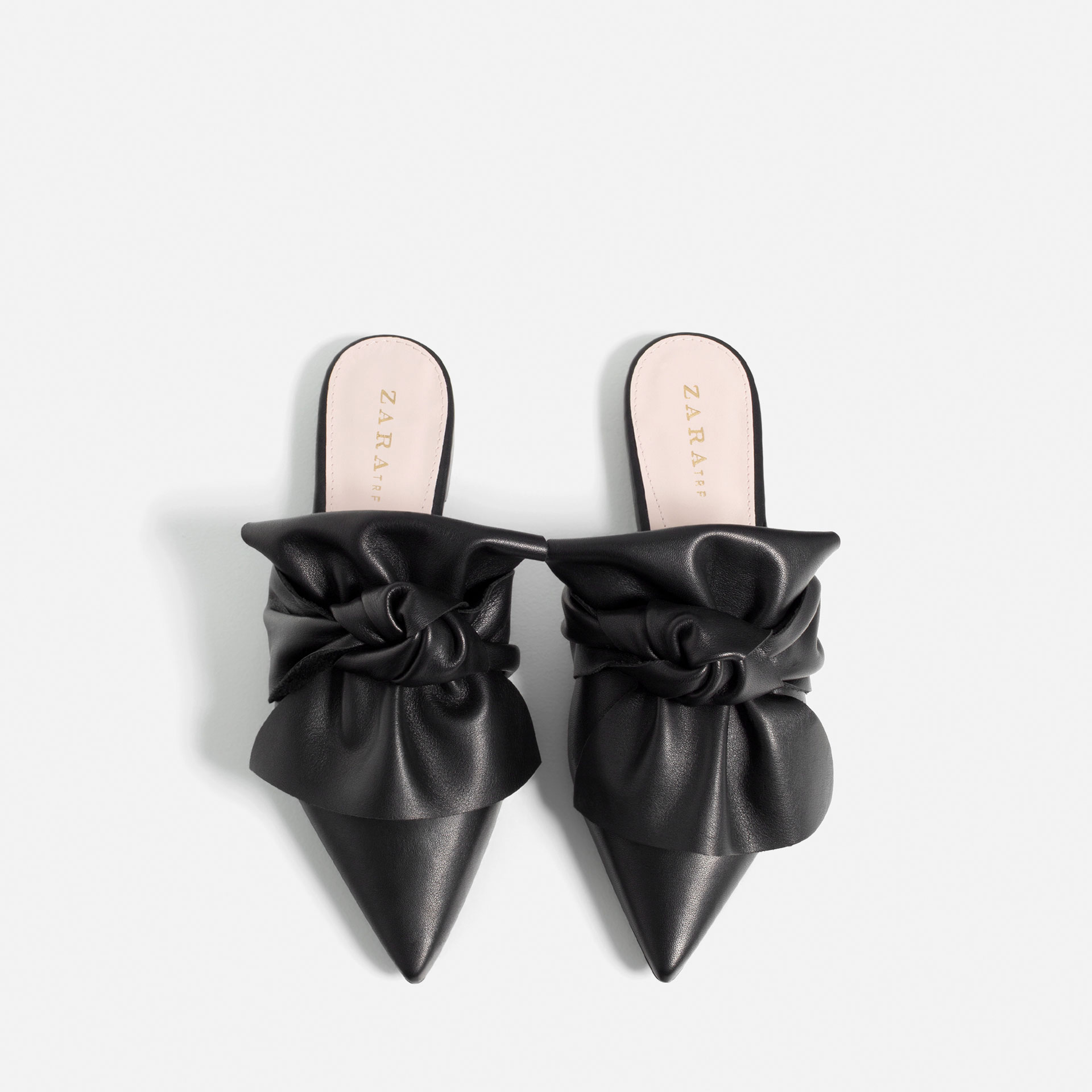 ROSE & IVY Journal Current Obsession Zara's Leather Bow Tie Slides
