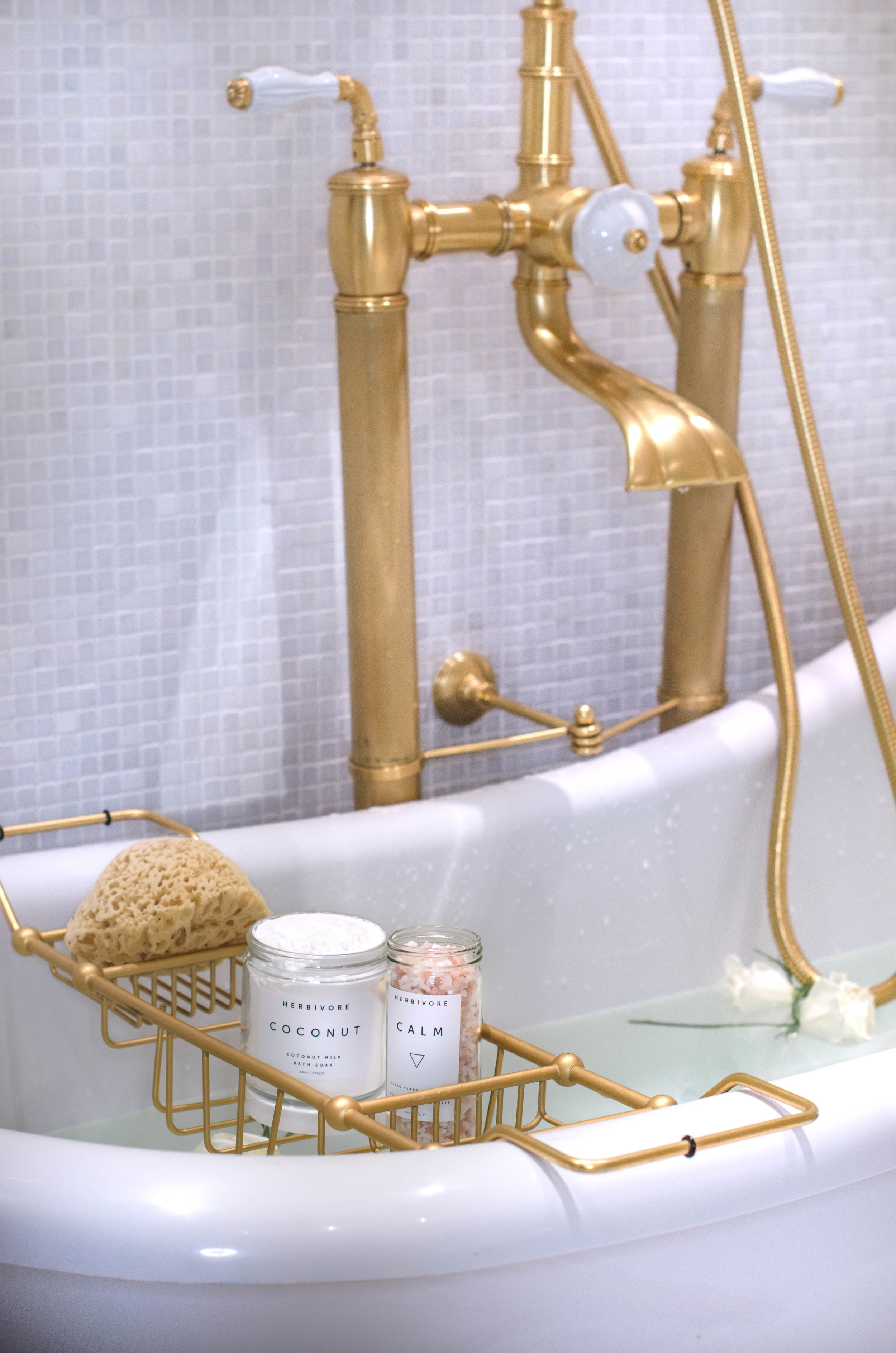 Indulge your senses and skin with Herbivore  Botanicals Coconut Milk Bath Soak  and  Calm Sea Salts
