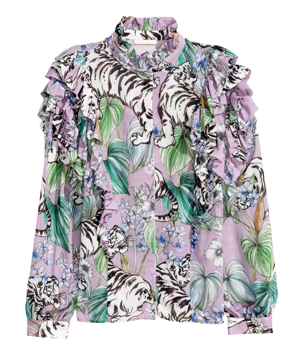 ROSE & IVY Journal H&M 80s Inspired Blouse