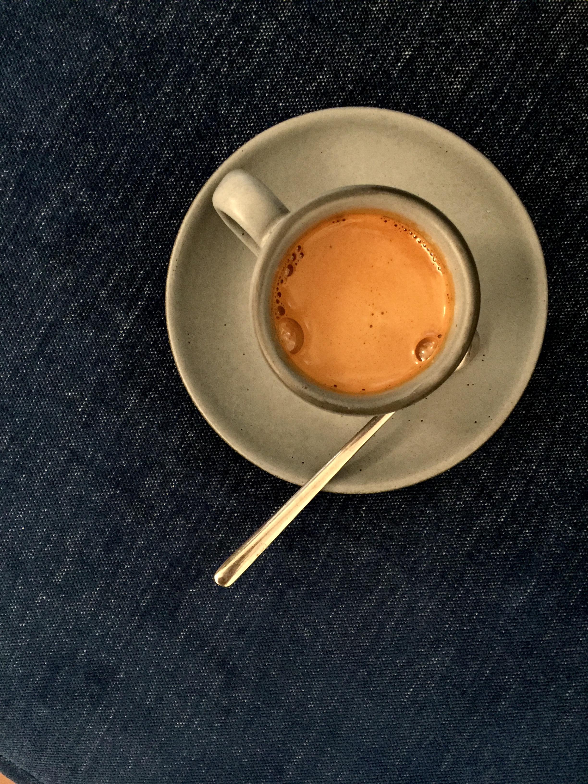 Cafe Integral  serves delicious espresso in the prettiest ceramic cup