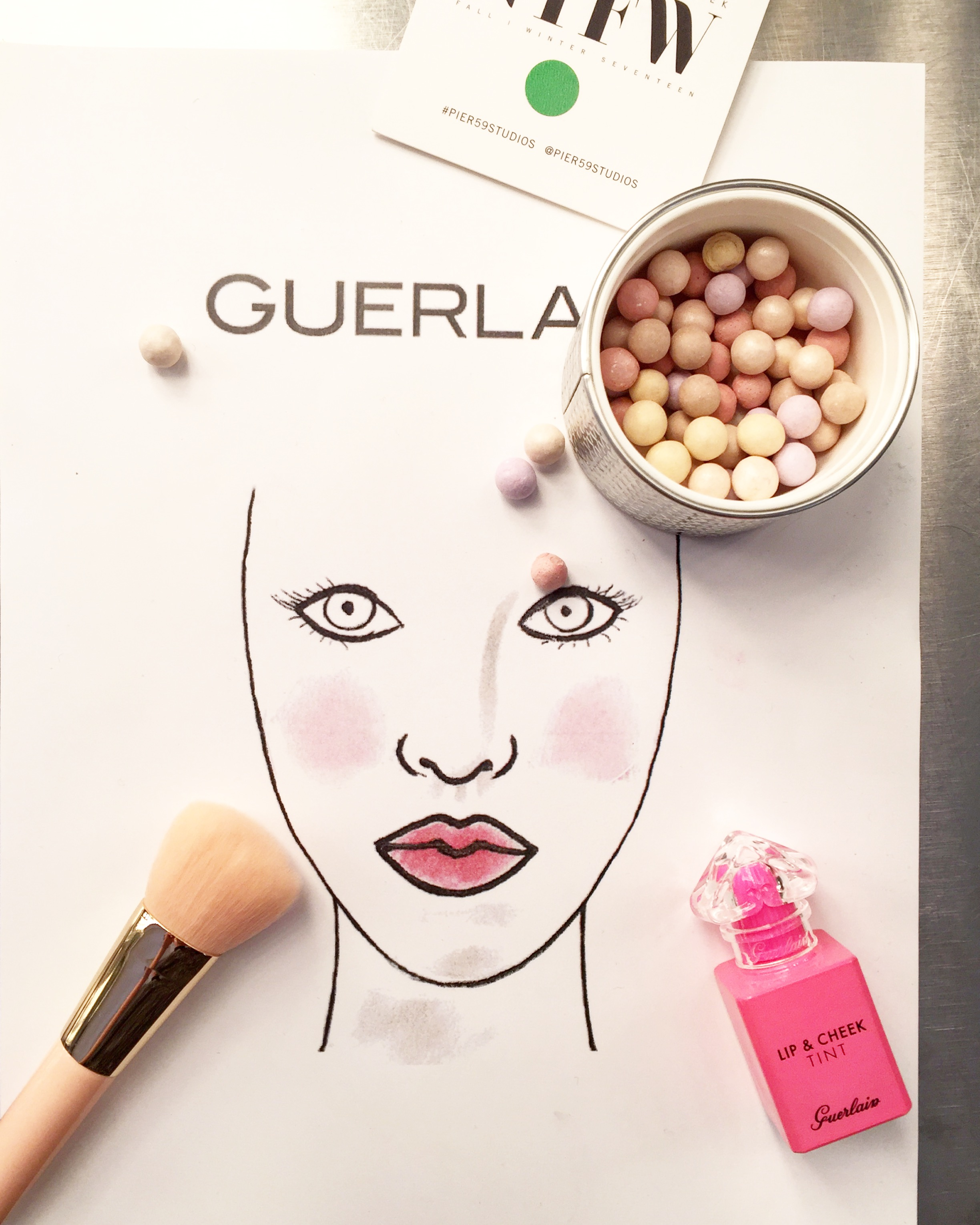 Backstage at NYFW with Guerlain, this is just one of the pretty looks created