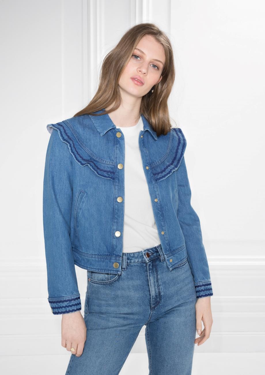 ROSE & IVY Journal Currently Loving Frilled Denim Jacket