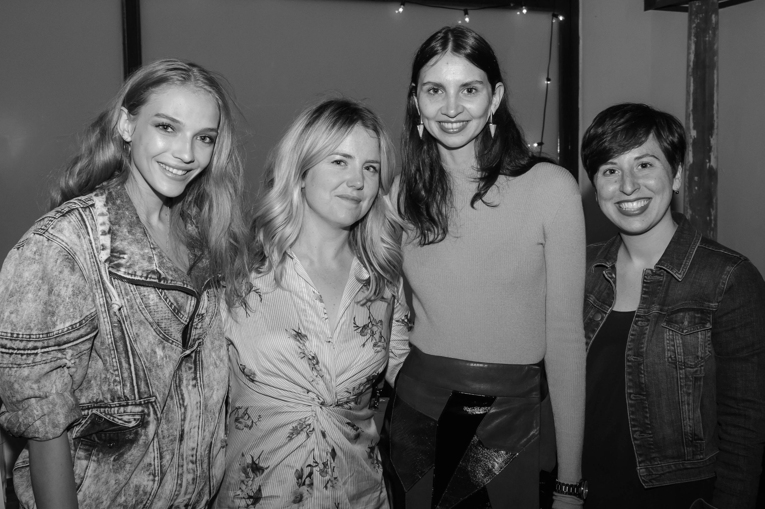 Allie   (amazing model), Alison (founding editor, hi! that's me),   Ana   (talented stylist) and Monica (gifted R&I designer)