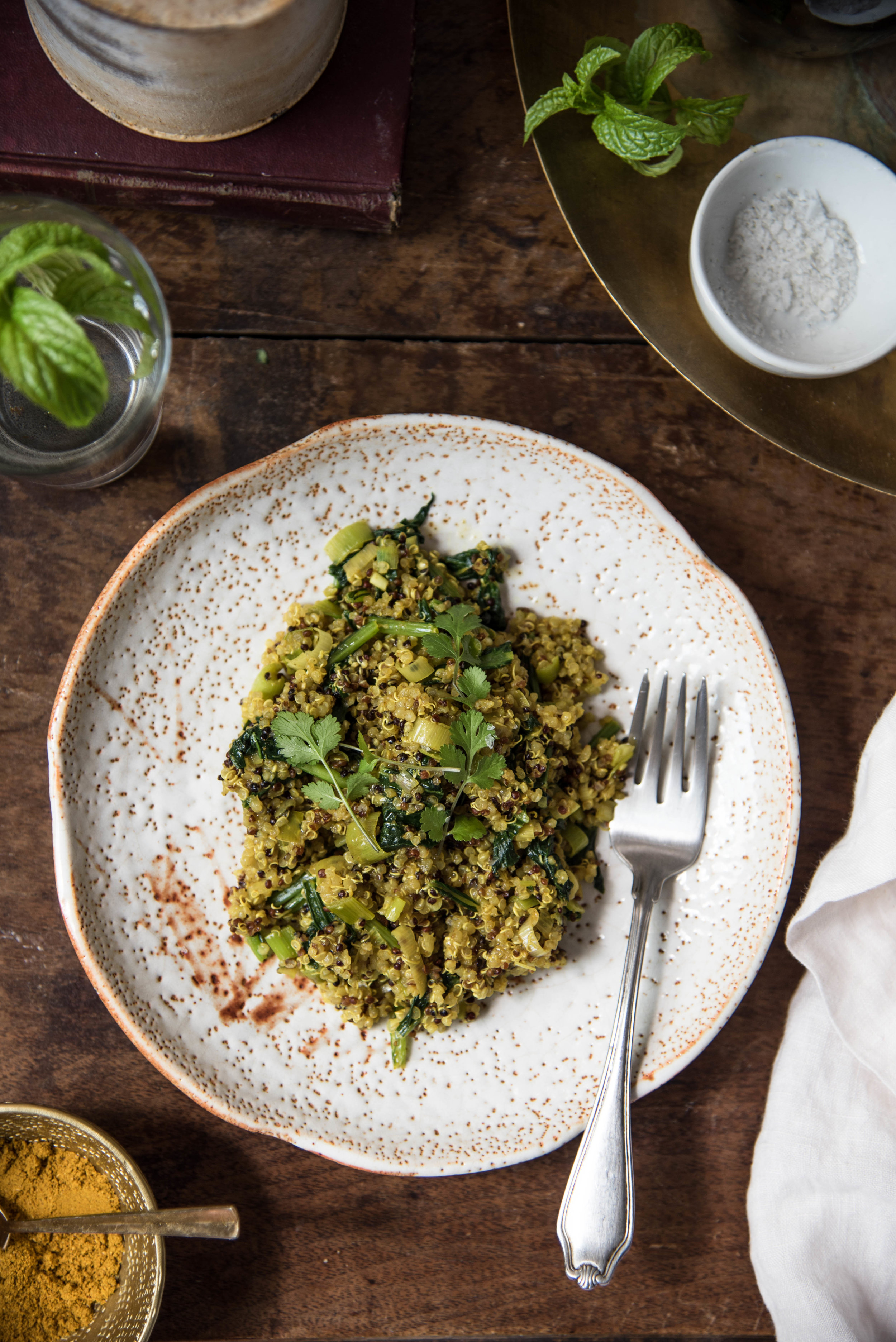 OSE & IVY Journal A Healthy & Easy Lunch or Dinner Idea | Spiced Quinoa & Greens