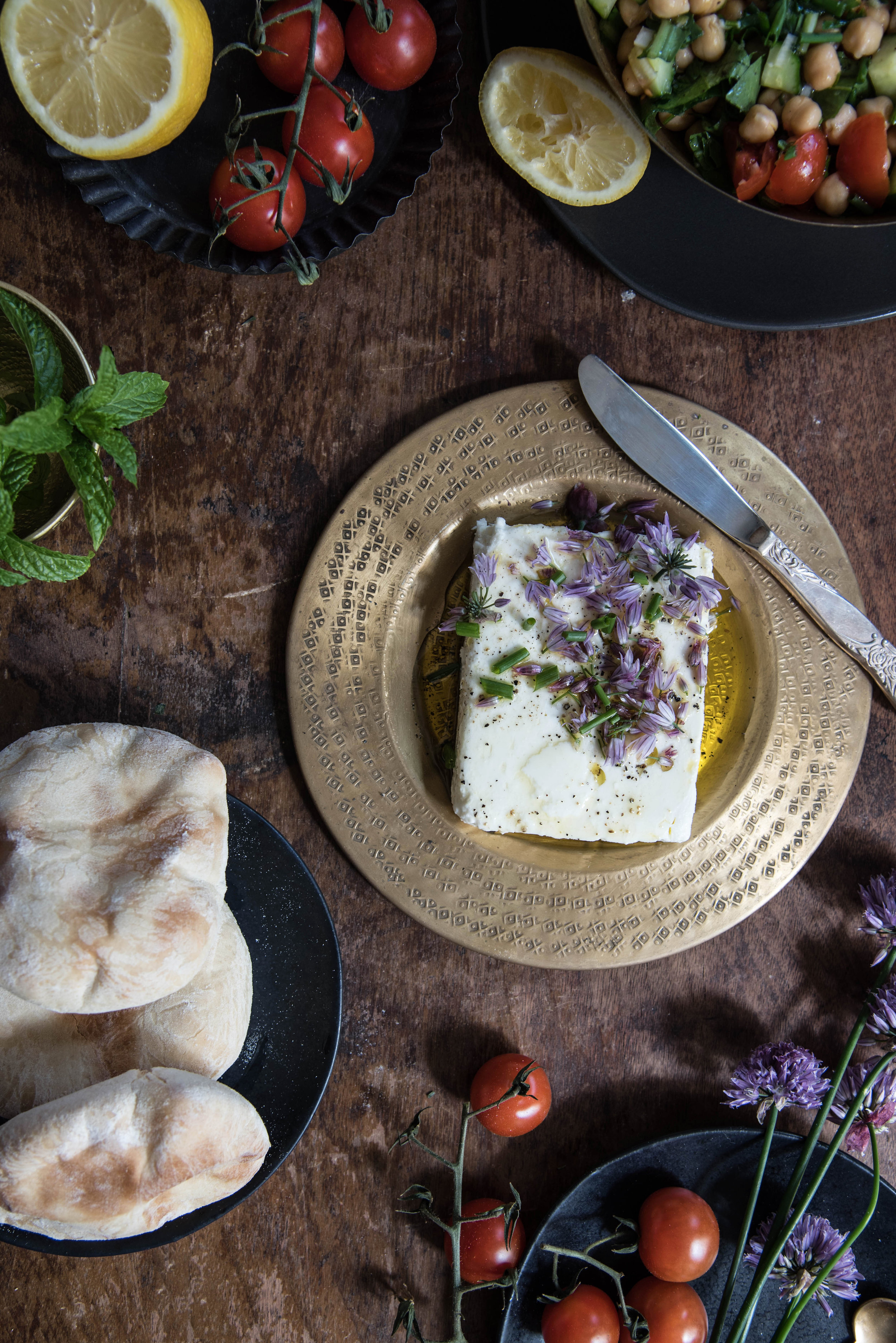 ROSE & IVY Journal Middle Eastern Spread Feta with Chives