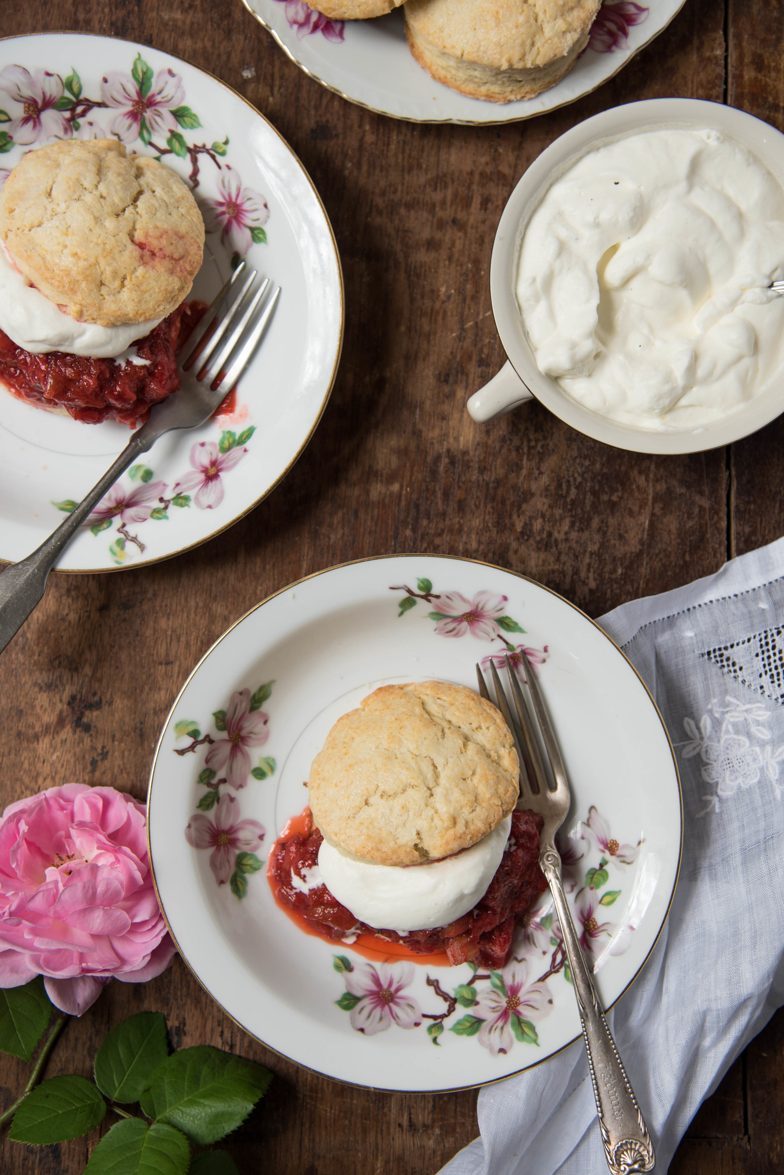ROSE & IVY Journal Strawberry Rhubarb Shortcakes