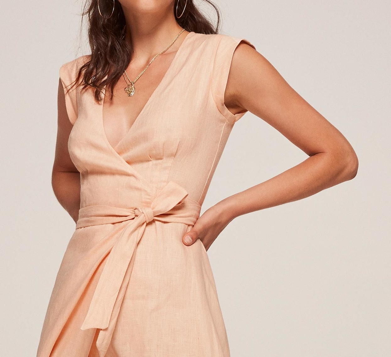 Currently Loving The Parisa Dress - The Prettiest Peach Dress from Reformation