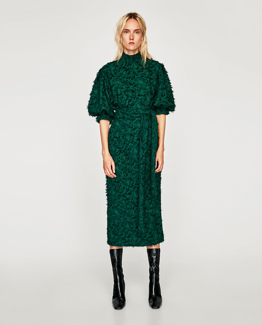 ROSE & IVY Journal Currently Loving | Emerald Midi Dress Zara