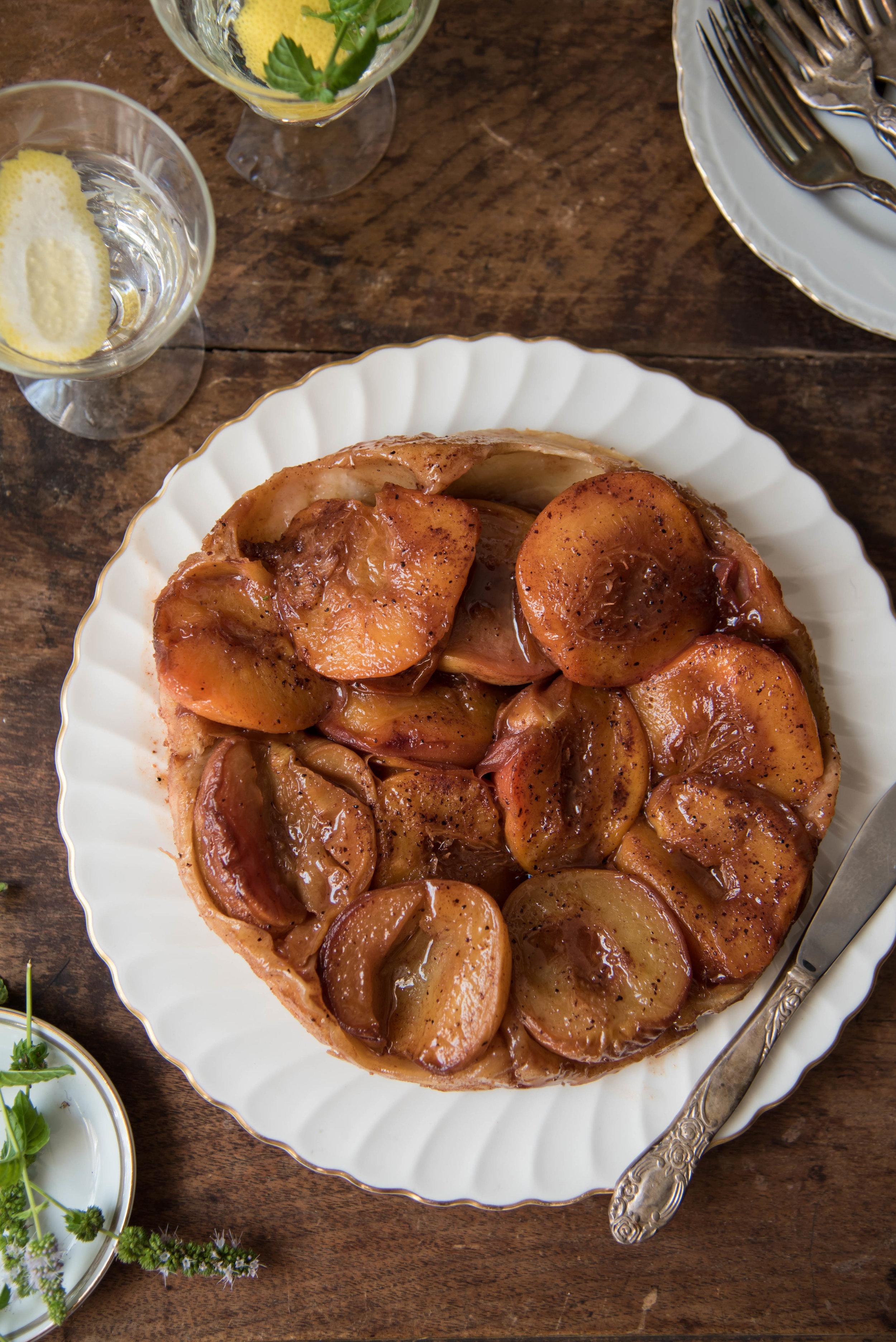 ROSE & IVY Journal Peach Picking & Peach Tart Tatin