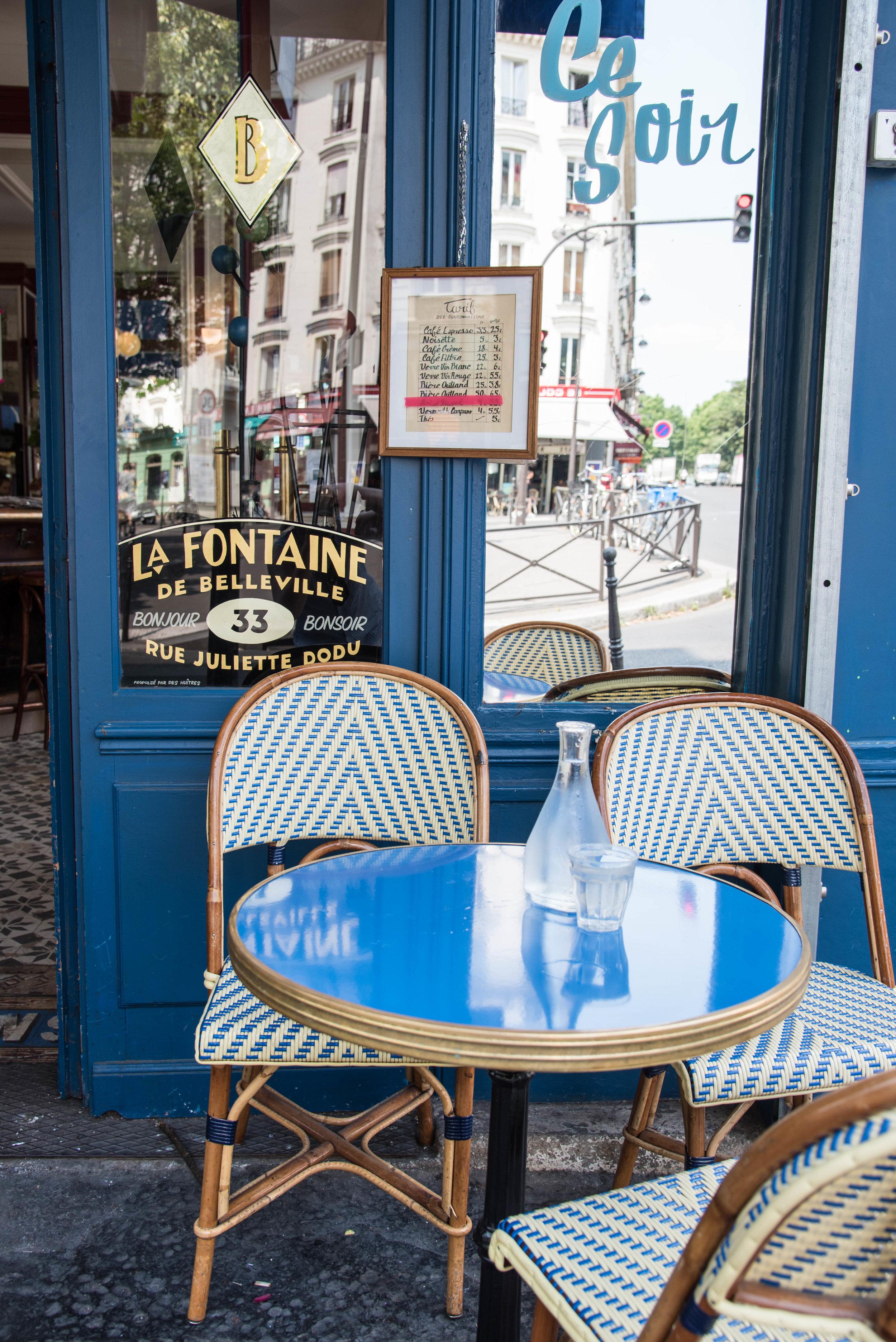 ROSE & IVY Journal When In Paris Dine at La Fontaine de Belleville