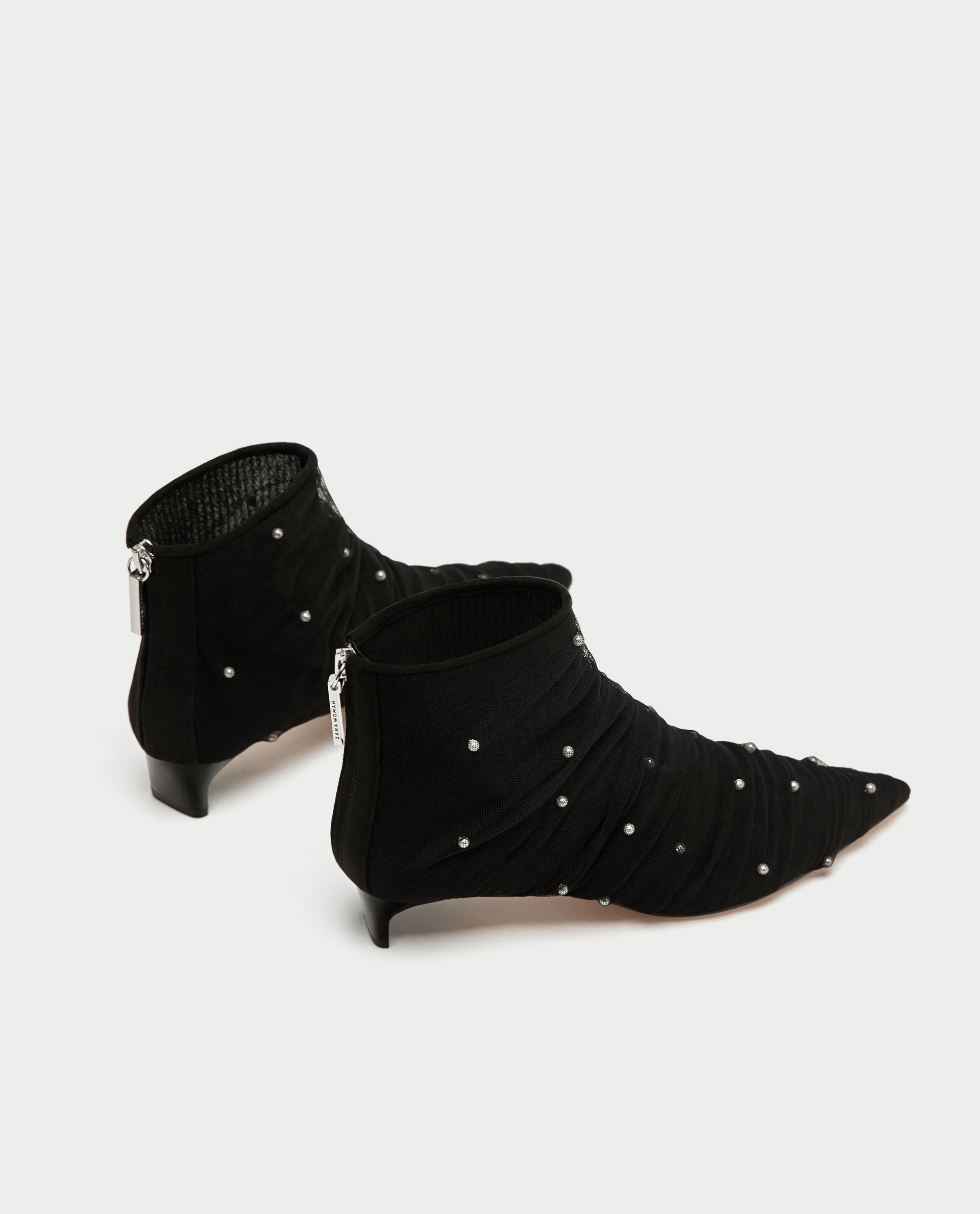 ROSE & IVY Journal The Find Pearl Dotted Zara Ankle Boots