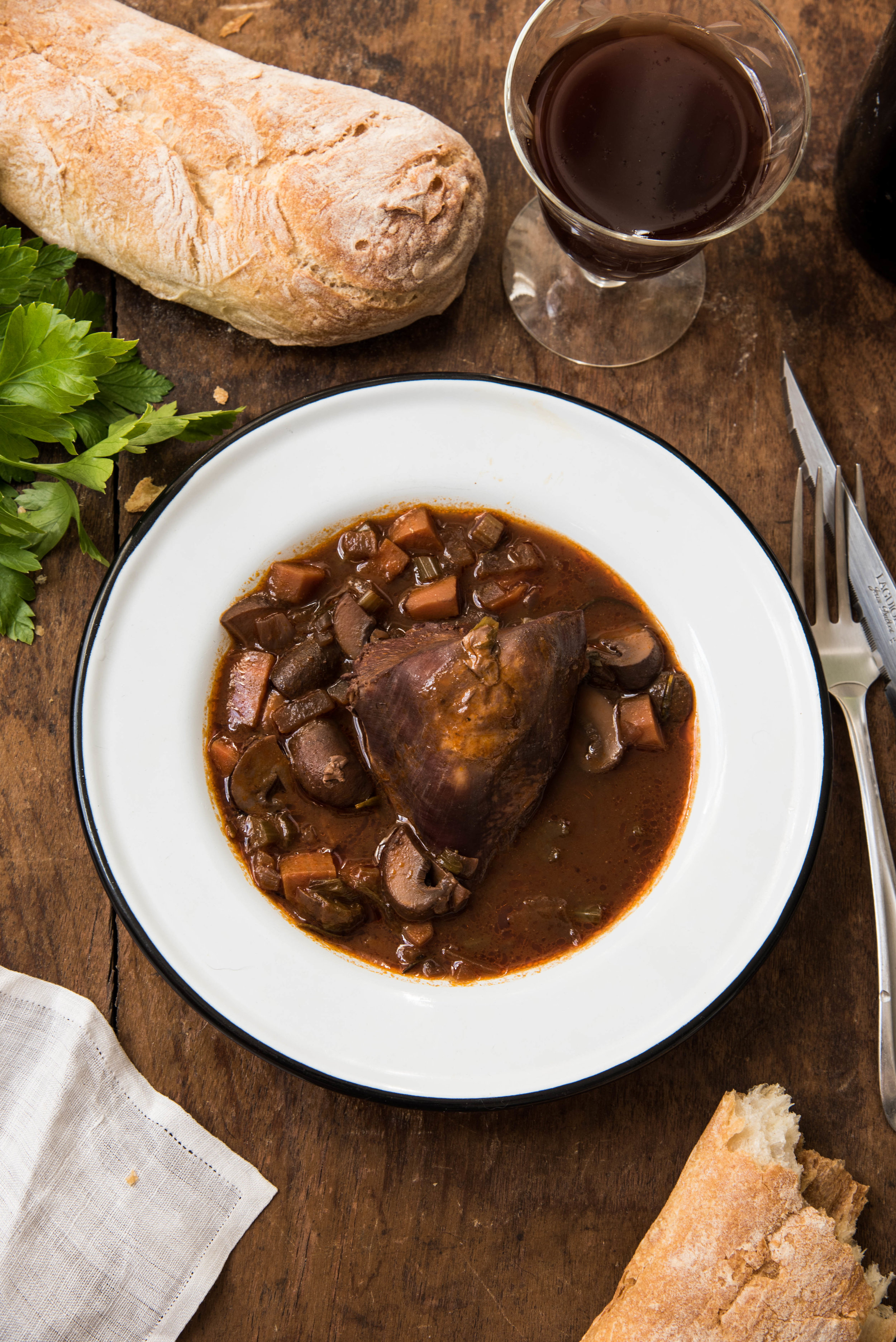 ROSE & IVY Journal French Cooking Easy Coq au Vin