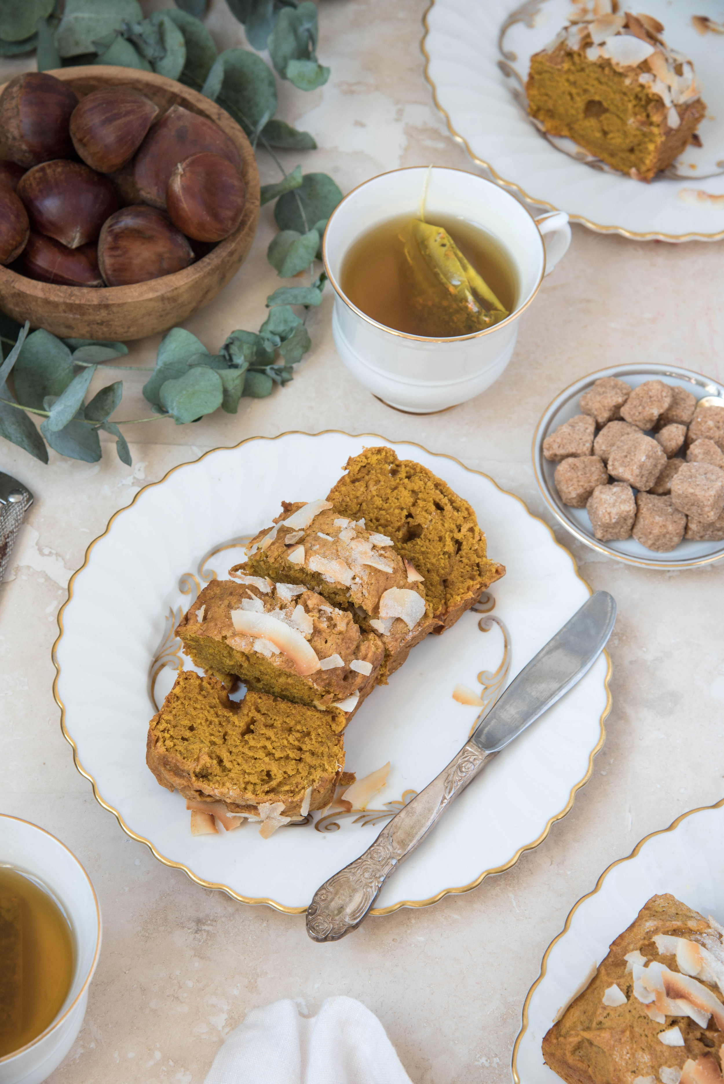 ROSE & IVY Journal Seasonal Baking Coconut Pumpkin Bread No Dairy Required