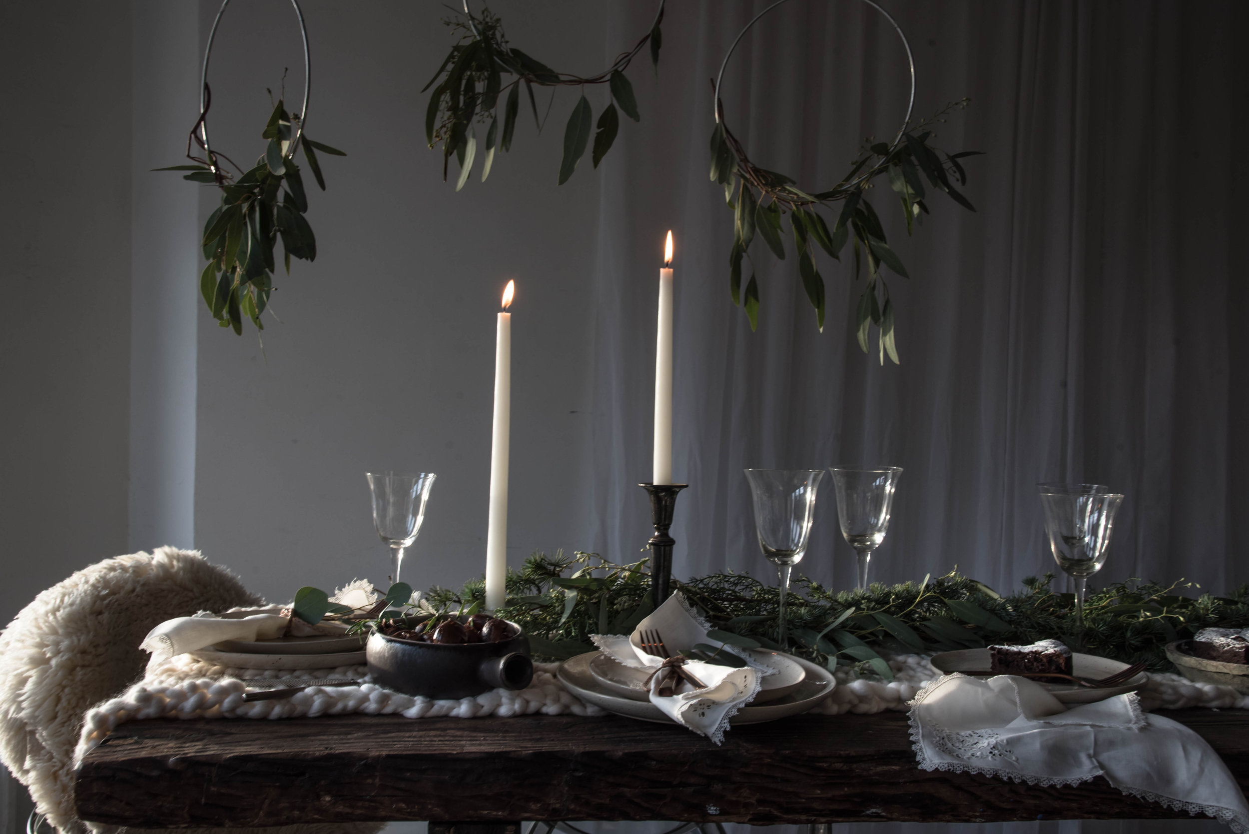 Winter Light - A Holiday Table Setting