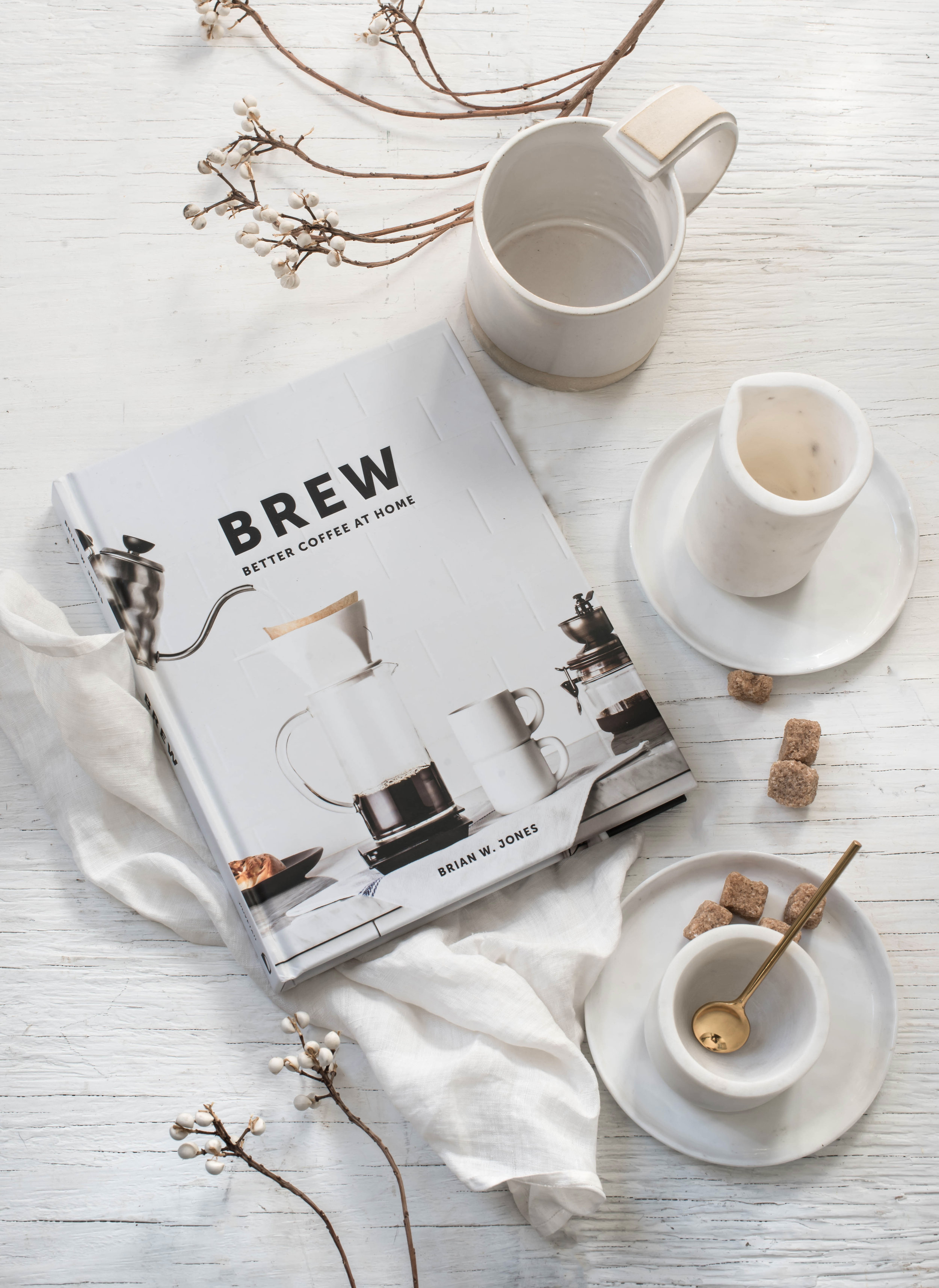 ROSE & IVY Journal The Gift Guide for the Caffeine Lover Brew Better Coffee at Home, Mondays Ceramic Mug and Hawkins New York Creamer