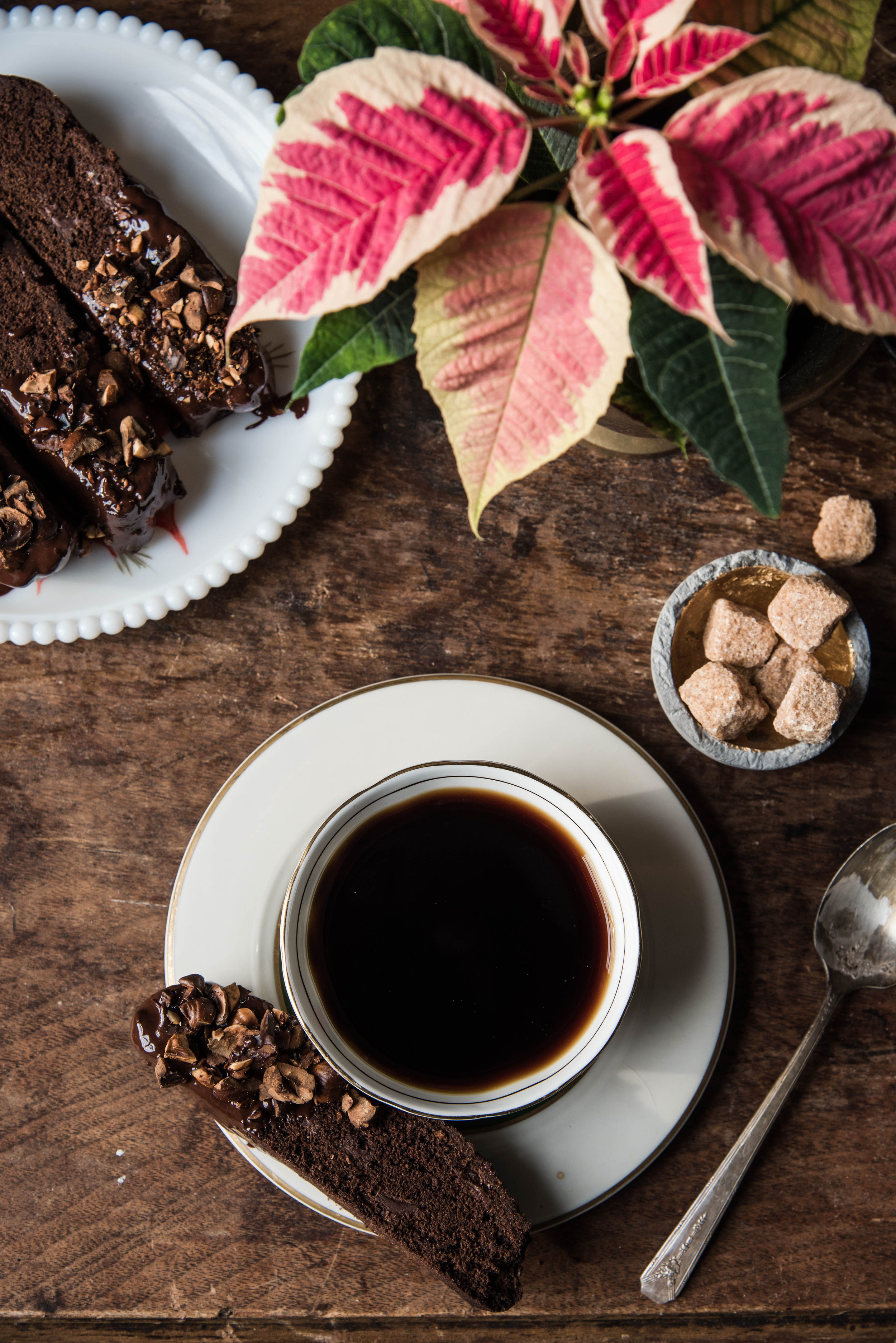 ROSE & IVY Journal Holiday Baking Double Chocolate Biscotti Dipped in Hazelnuts
