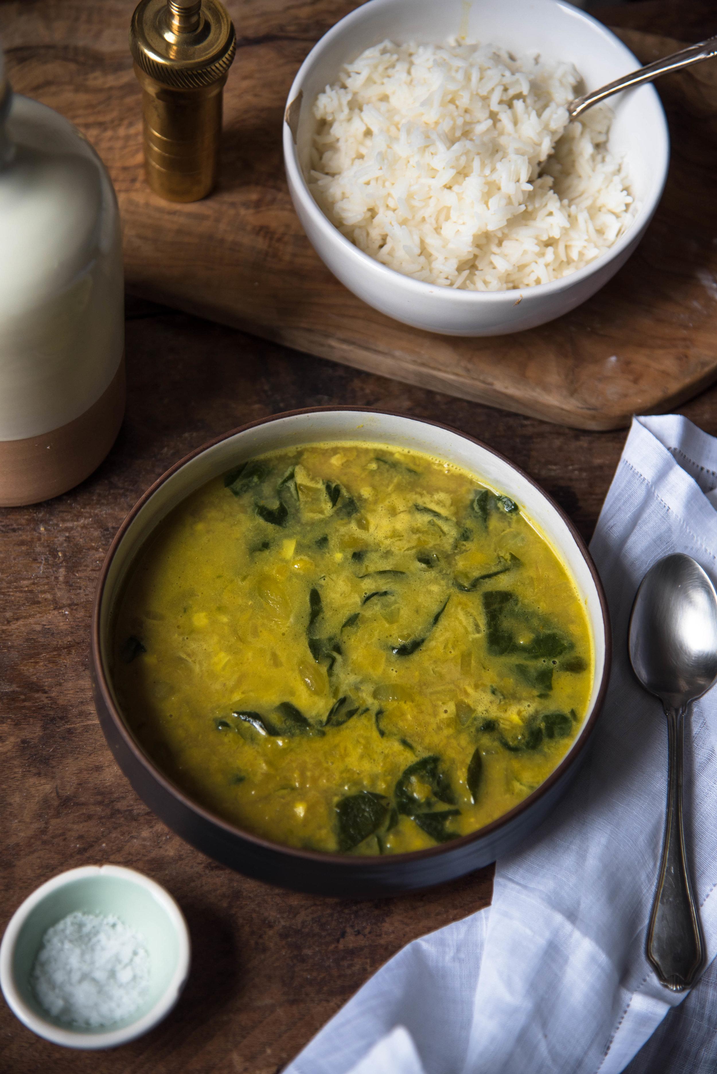 ROSE & IVY Journal Spiced Coconut Lentil Soup