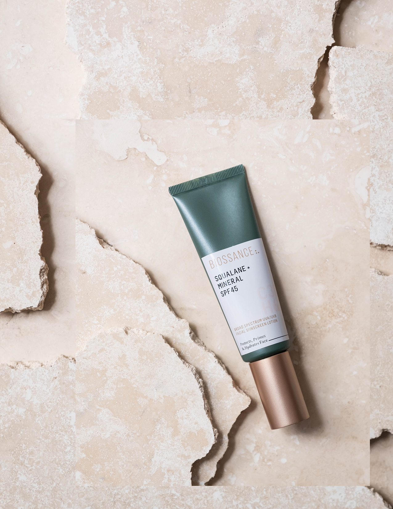 ROSE & IVY Journal Our Favorite Suncare for All Occasions Biossance Squalane + Mineral SPF 45