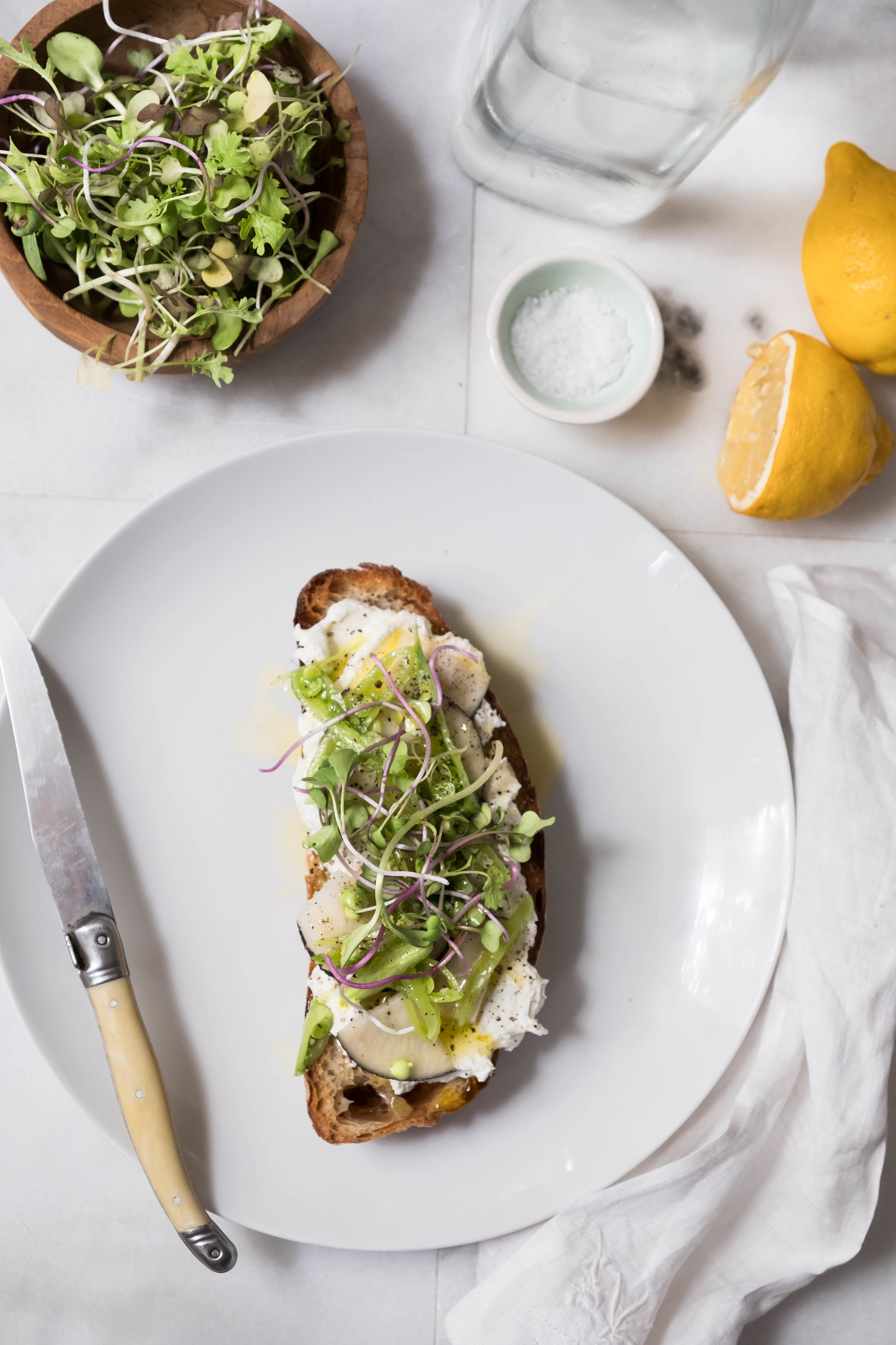 ROSE & IVY Journal Ricotta Toasts Two Ways | Sweet + Savory Springtime Crunch Ricotta Toast