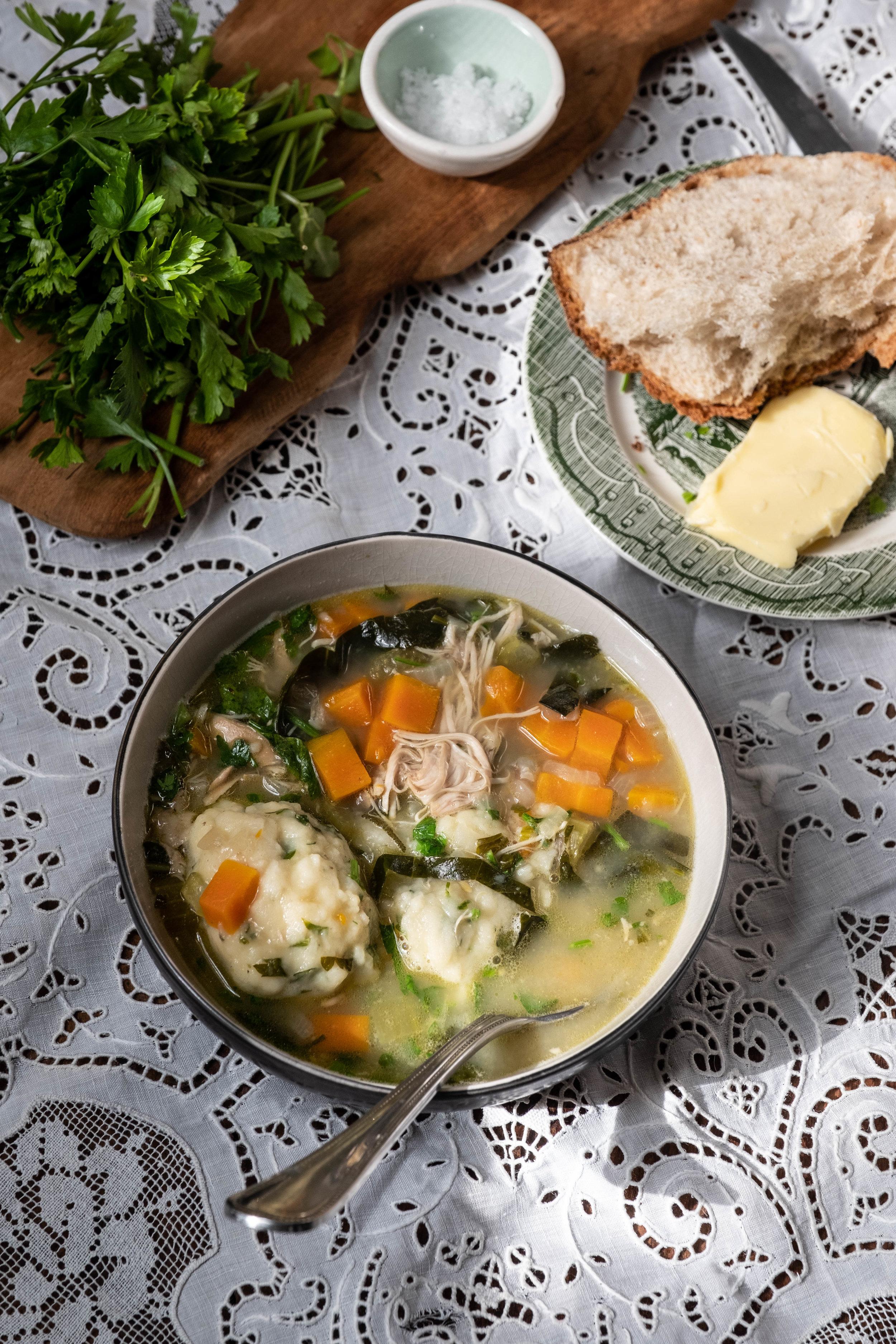 ROSE & IVY Journal A Bowl of Comfort | Herbed Chicken & Dumplings