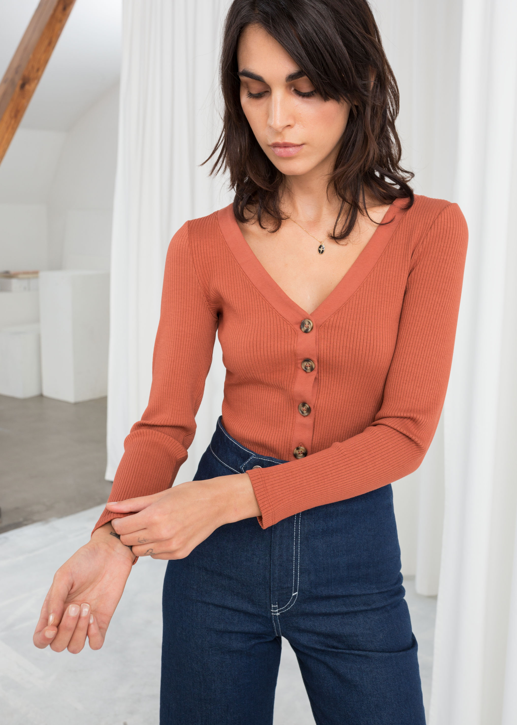 ROSE & IVY Journal The Find A Buttoned Up Cardigan