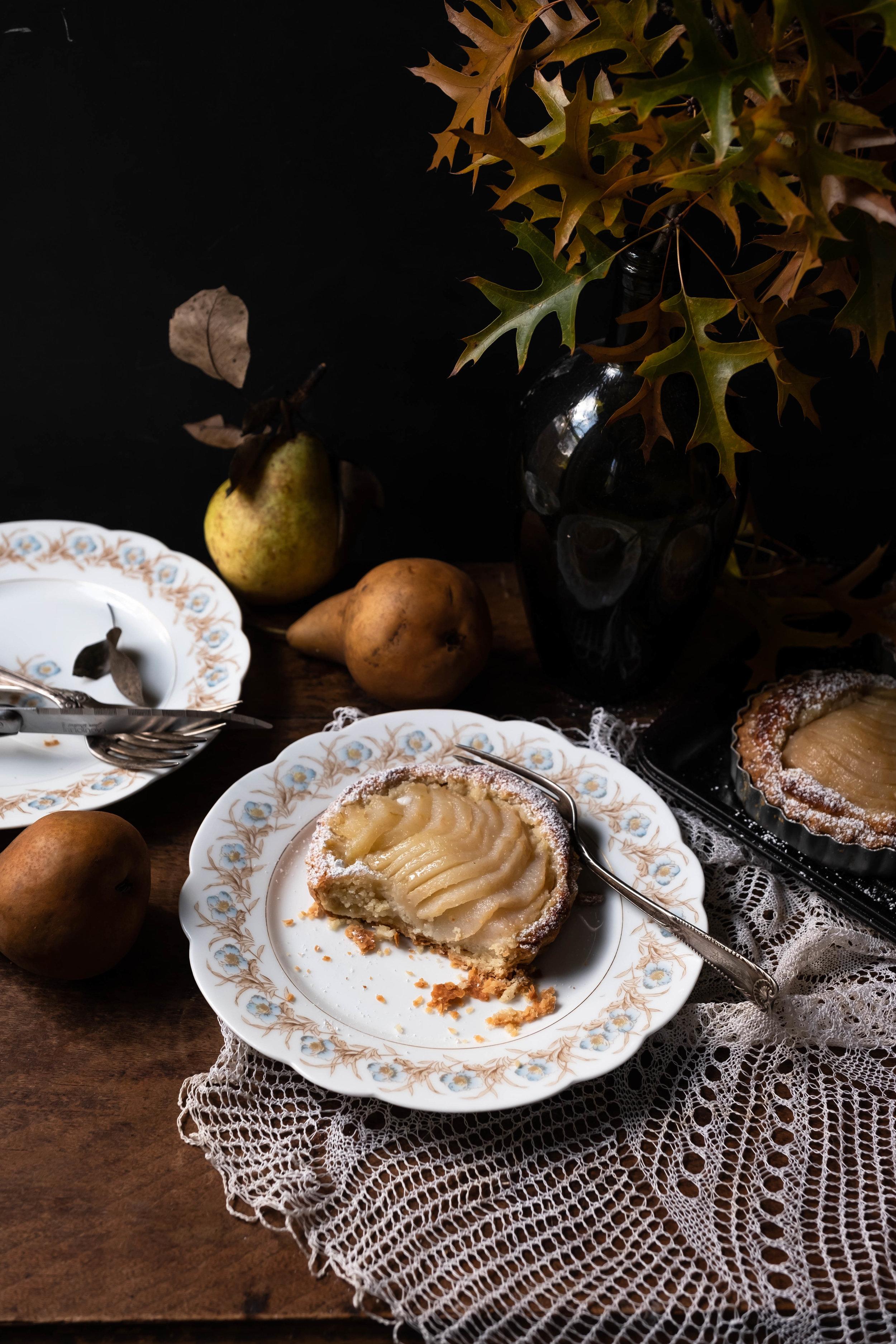 ROSE & IVY Journal Giving Thanks | A Pear Frangipane Tart for Thanksgiving Dessert