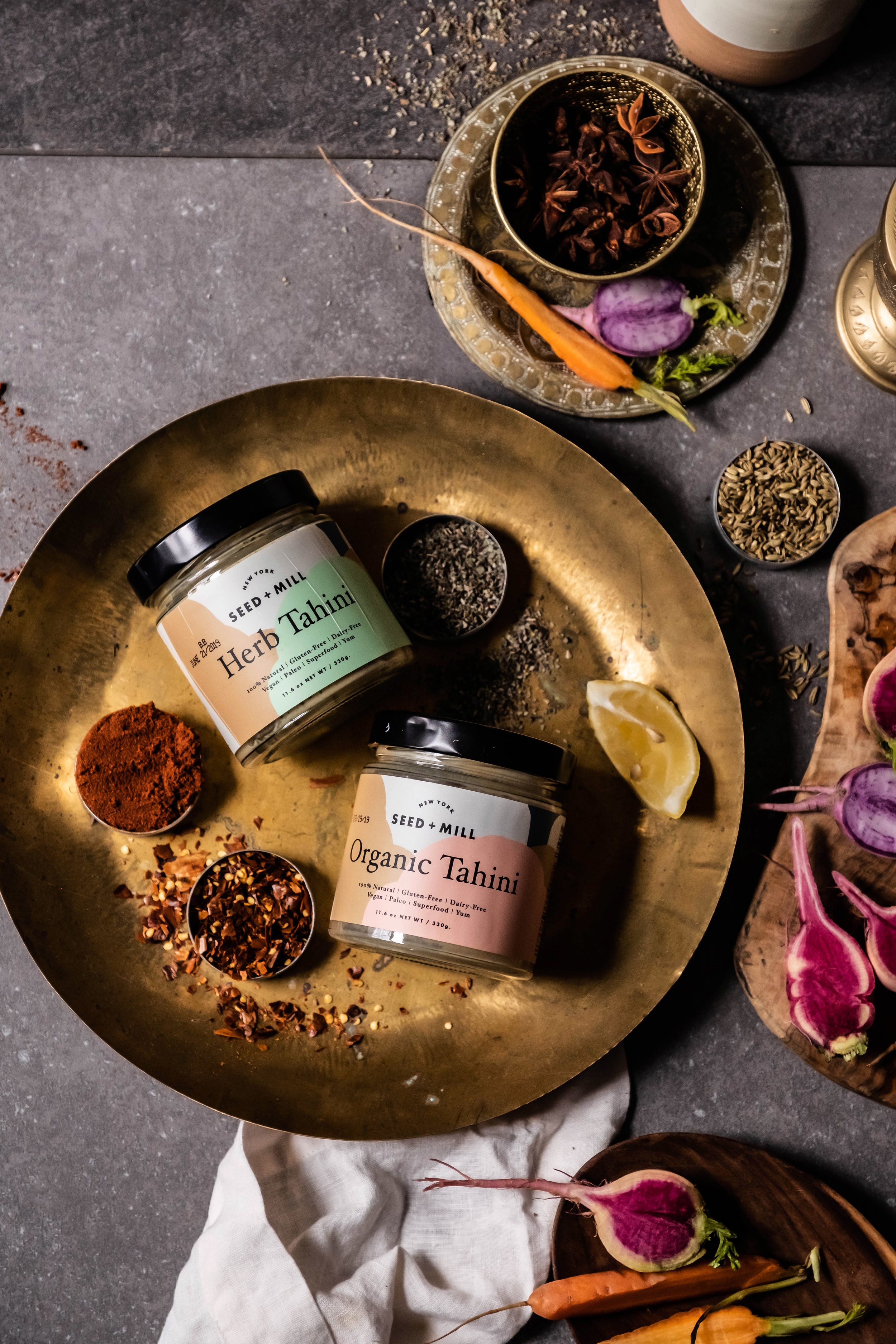 ROSE & IVY Journal Holiday Gifting Flavors of the Middle East Seed + Mill Tahini