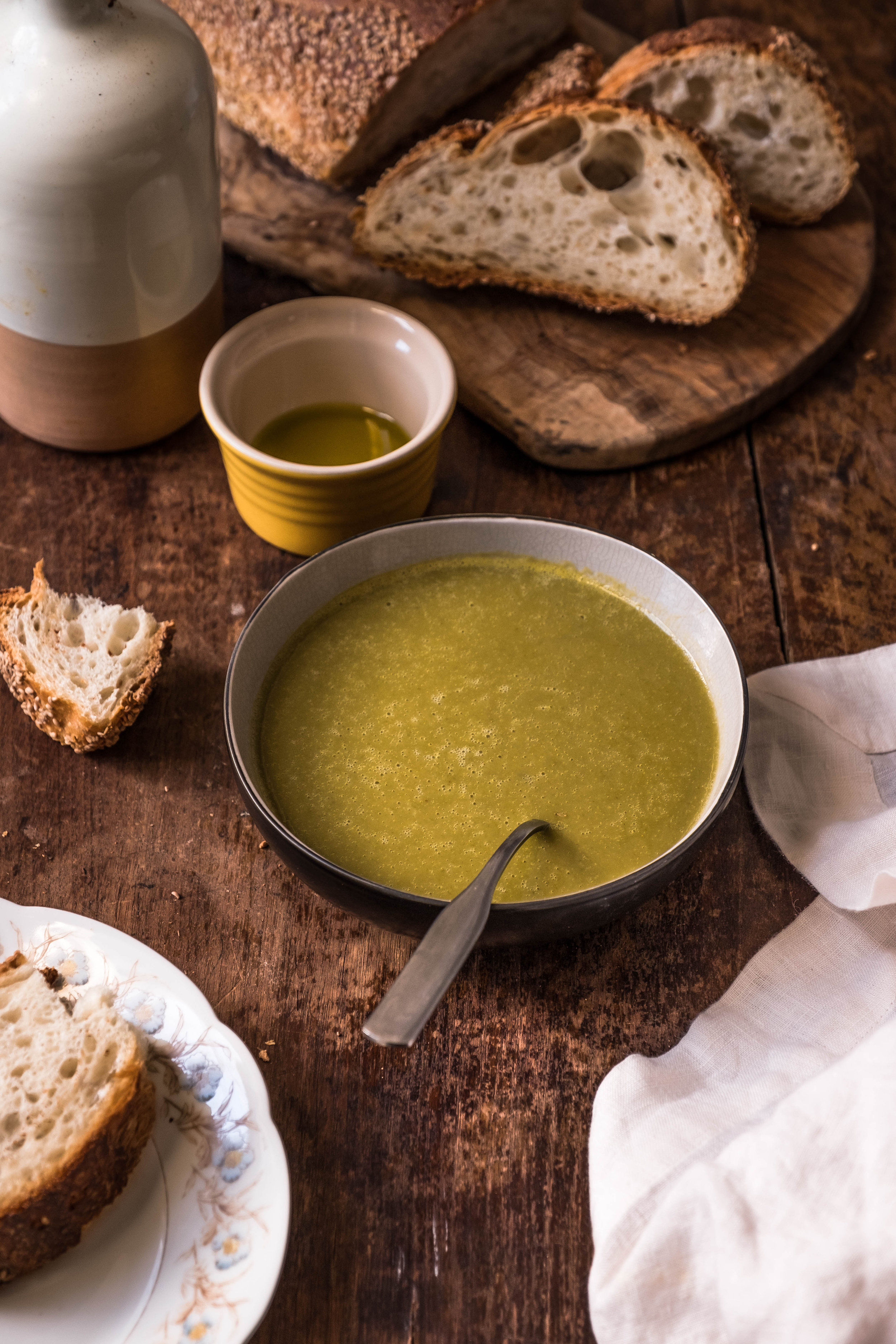 ROSE & IVY Journal Split Pea & Spinach Soup