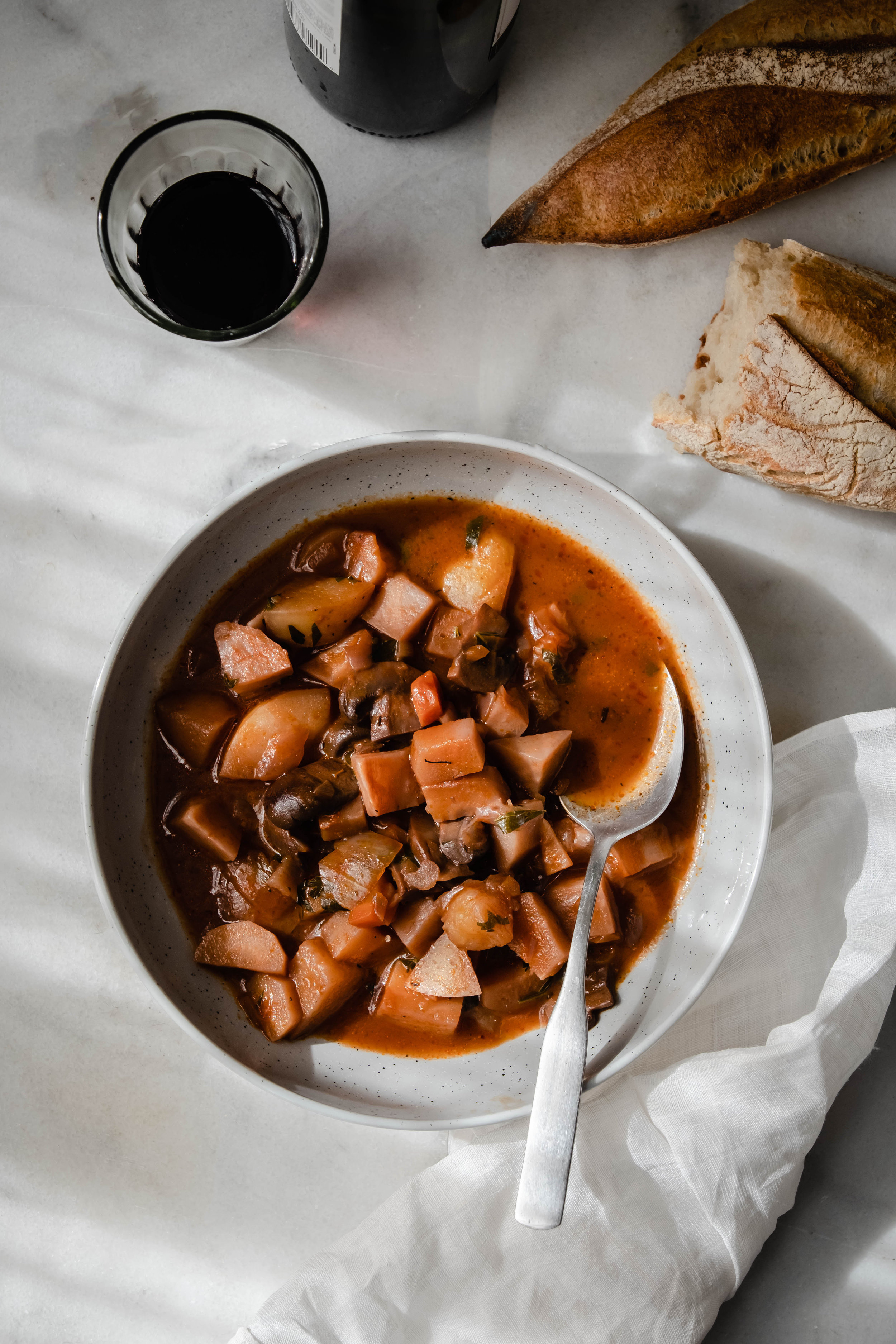 ROSE & IVY Journal Root Vegetable Bourguignon