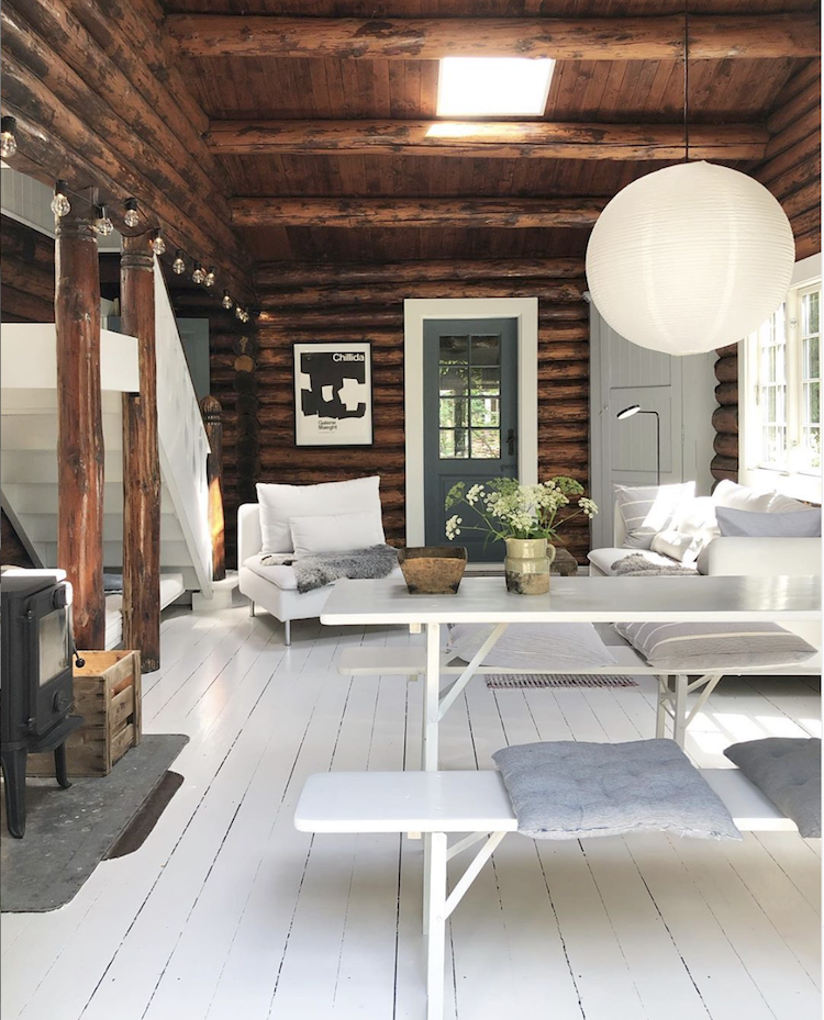 Last summer, I had the opportunity to spend some time in Finland and Sweden—and I completely fell in love. Not only was I lured in by the delicious food, but the design was beyond. My experience in Finland was traveling to  SuperShe Island , an archipelago off the coast dotted with many cottages that are retreats during the warmer months. White floors, natural woods and light materials embody this aesthetic that I experienced so much. Here are a few ways to get this look.