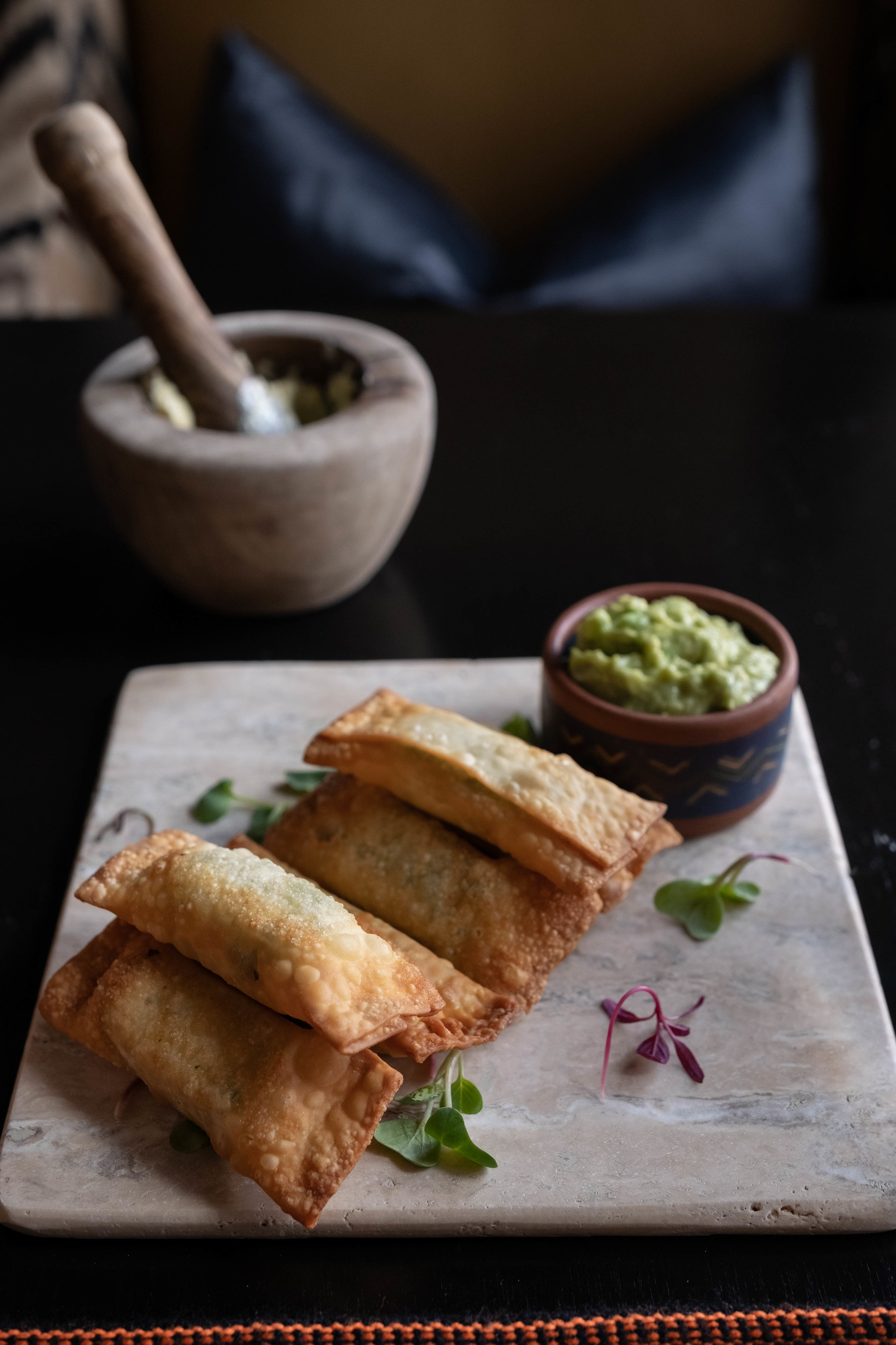 Qespi Restaurant and Bar has a menu that includes local dishes, like Andean cheese tucked into a crispy pocket and garnished with micro greens grown in the courtyard.