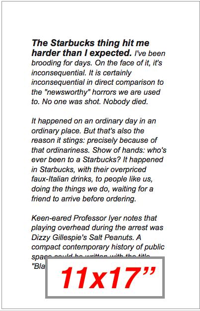 "Teju Cole Text: Interactive 11x17"""