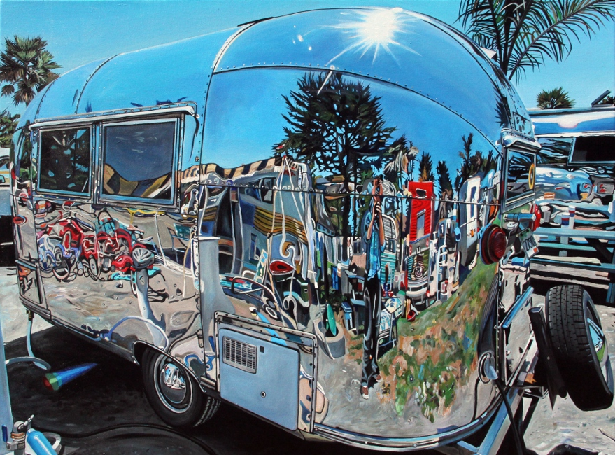 Dukes 1961 Airstream Bambi (2014) - 48x36 acrylic on canvas Taralee Guild (low res).JPG