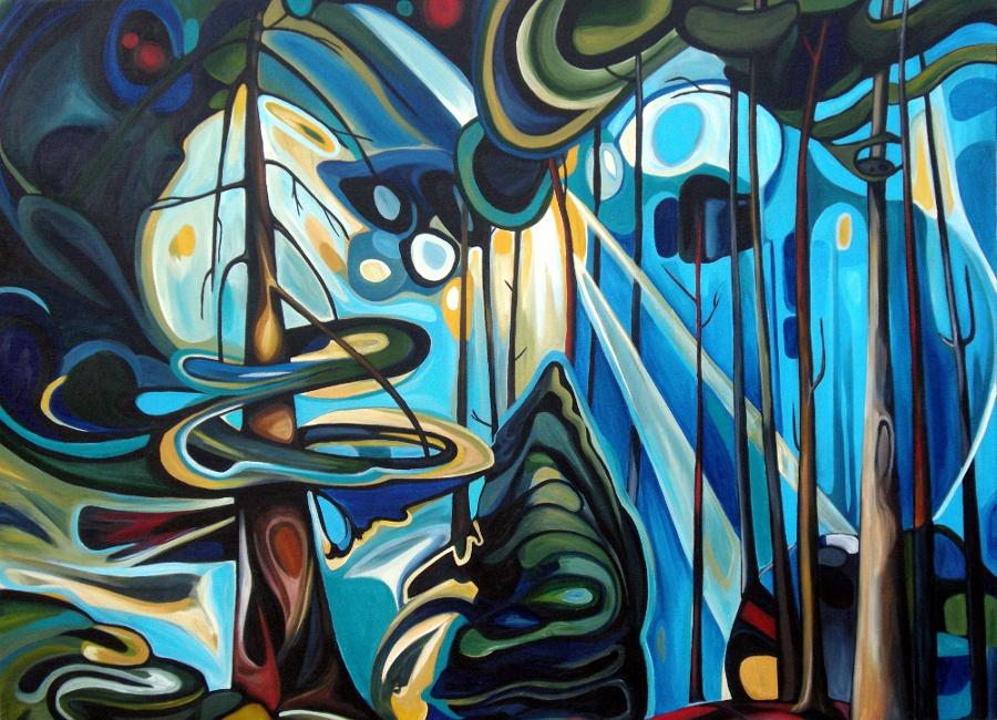 Emily Carr Forest 1 - 42x30 acrylic on canvas.jpg