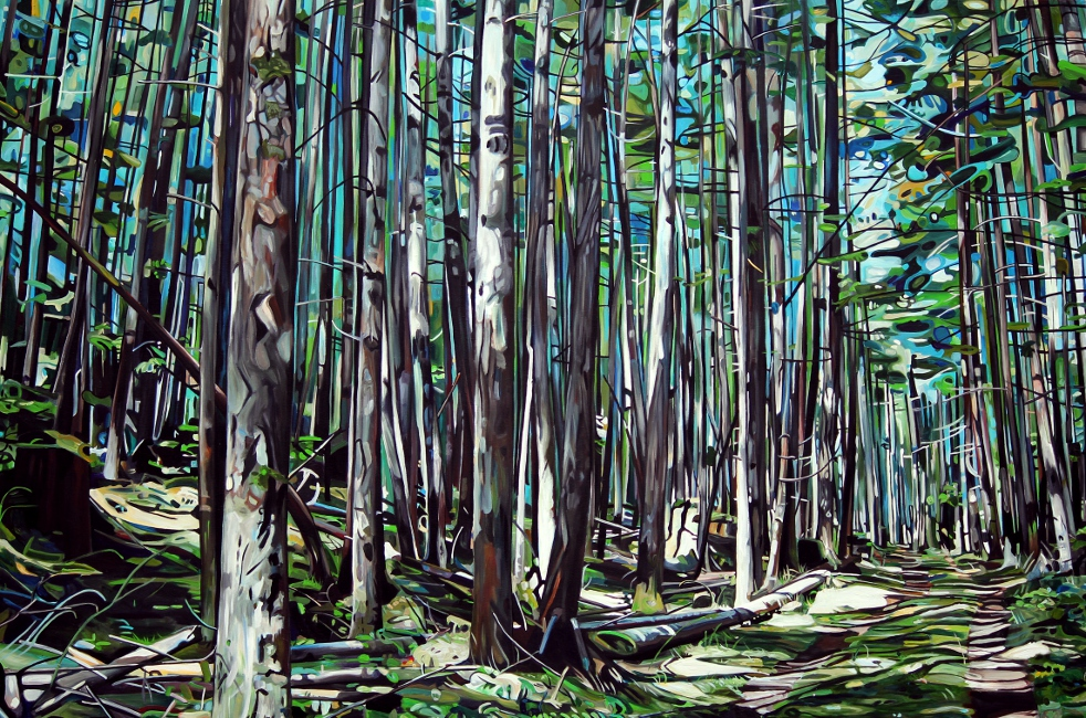 Galiano Island Forest Path - 72x48 acrylic on canvas Taralee Guild (low res).JPG