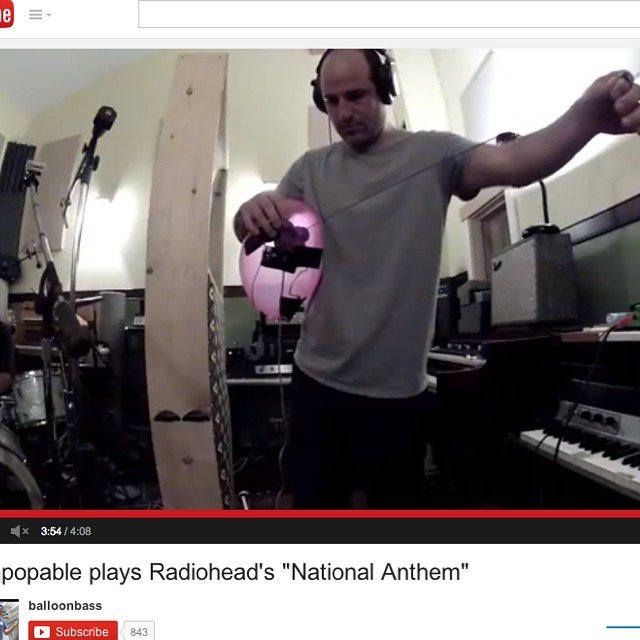 Check out the Unpopable version of Radiohead's 'The National Anthem' with Addi Somekh on balloon bass, Joey Maramba on electric bass and Fredo Ortiz on drums, recorded in one room on one take at Mario Caldato's MCJ Studio in LA - from our soon to be release album Unpopable Trio  https://www.youtube.com/watch?v=tQYmbkJOV28&list=UUjWqj1qSVPnjDC2c23aI54g