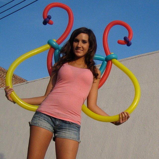 Early prototype of the balloon wings, circa 2009