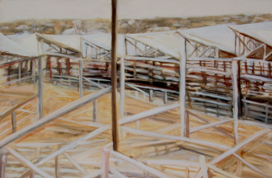 Fort Worth Stockyard Pens by Susanne Vincent