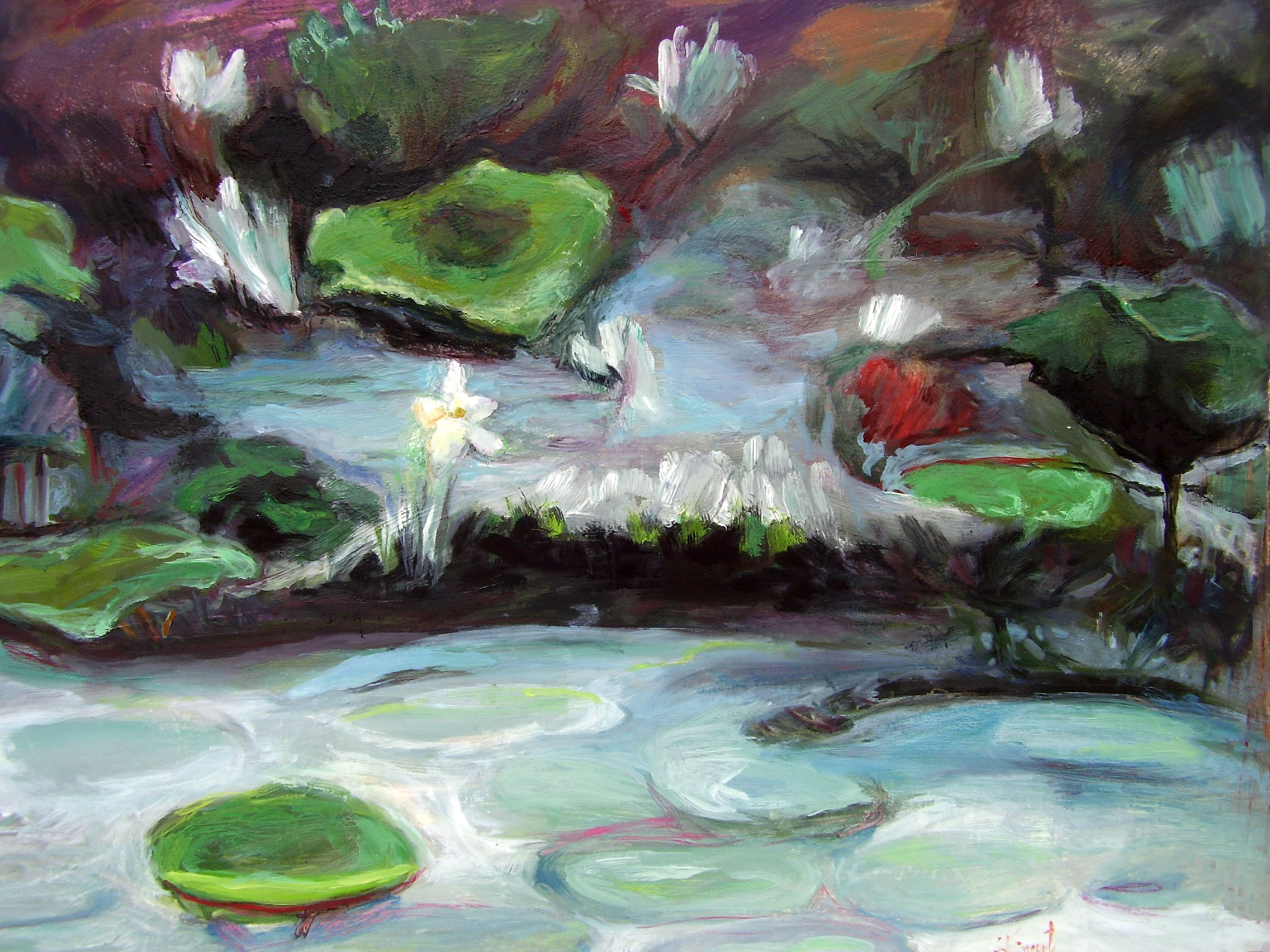 Lilies of the Marsh I by Susanne Vincent